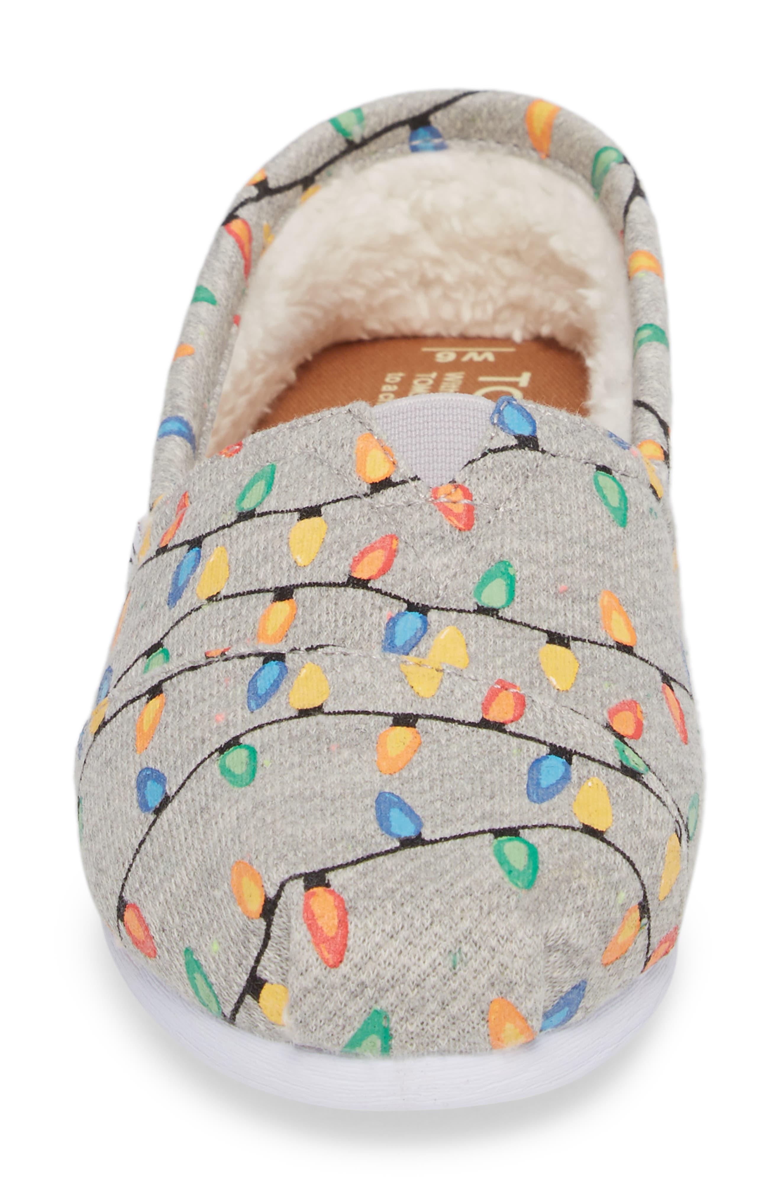'Classic Knit' Slip-On,                             Alternate thumbnail 4, color,                             Grey