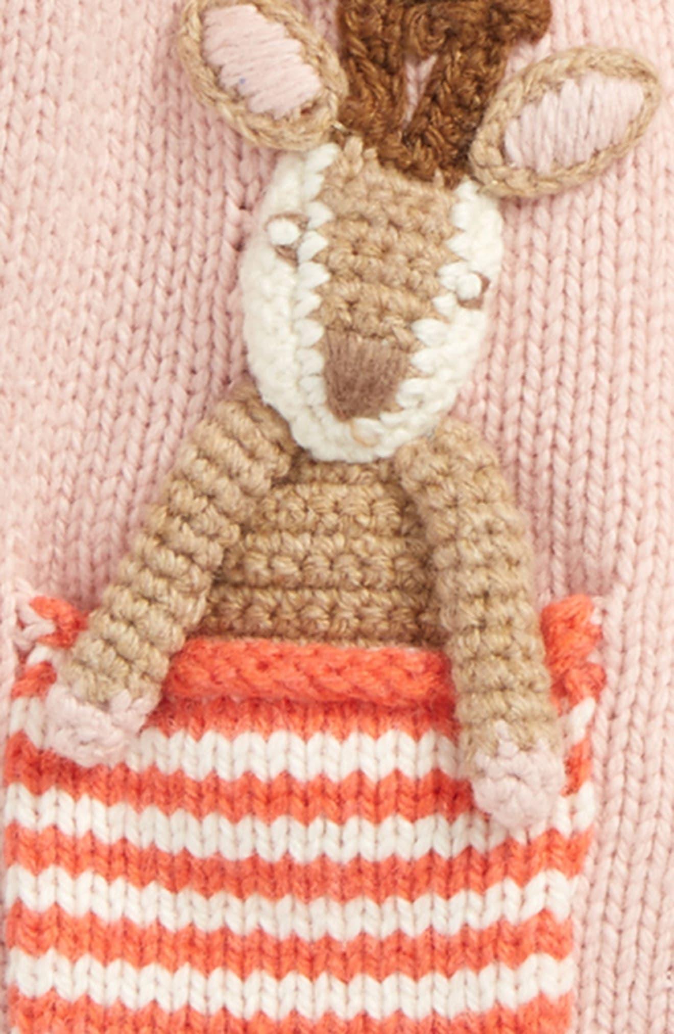 Alternate Image 2  - Mini Boden Pet-in-a-Pocket Cardigan (Baby Girls & Toddler Girls)