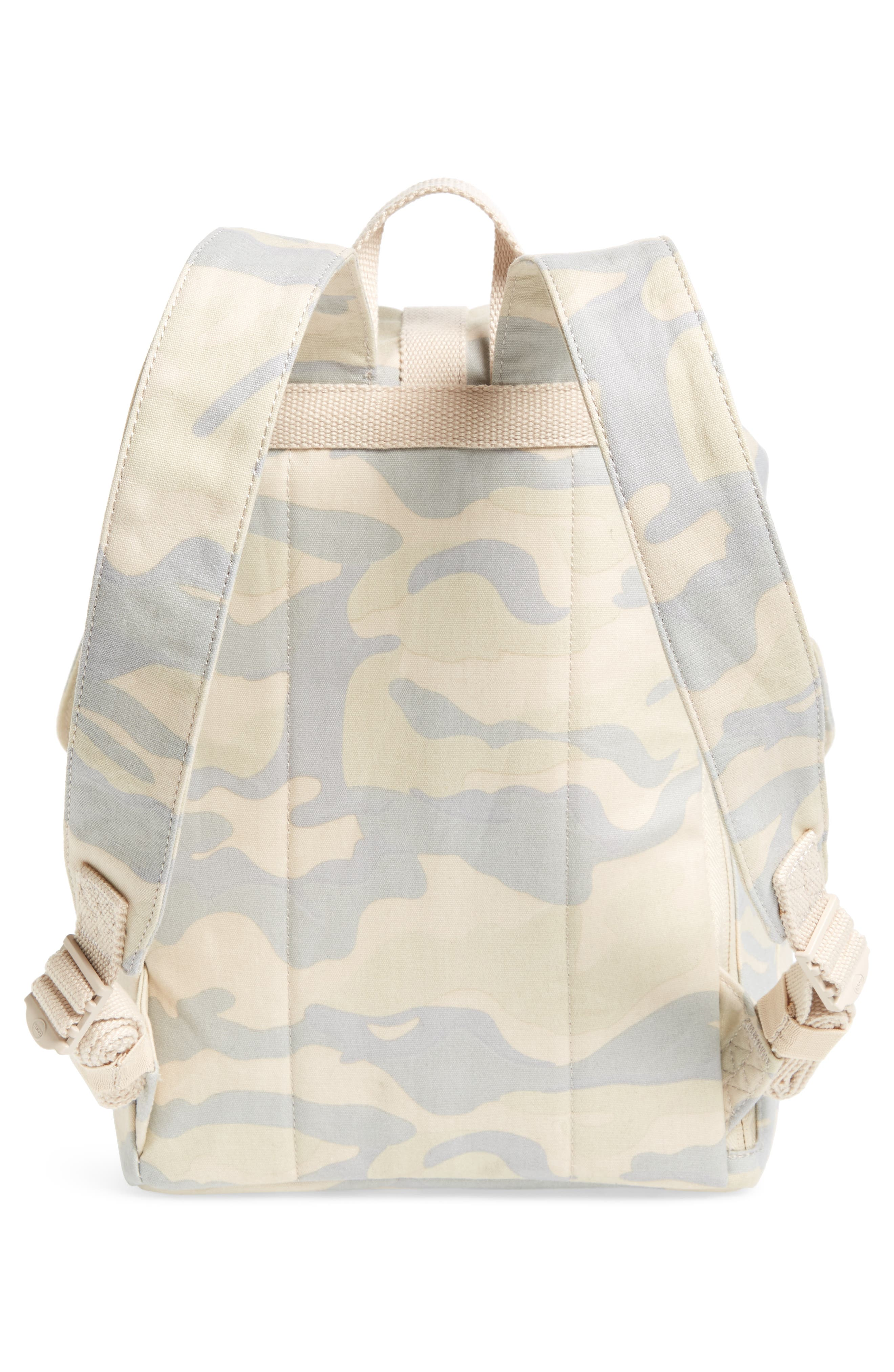 X-Small Dawson Camo Canvas Backpack,                             Alternate thumbnail 3, color,                             Washed Canvas Camo