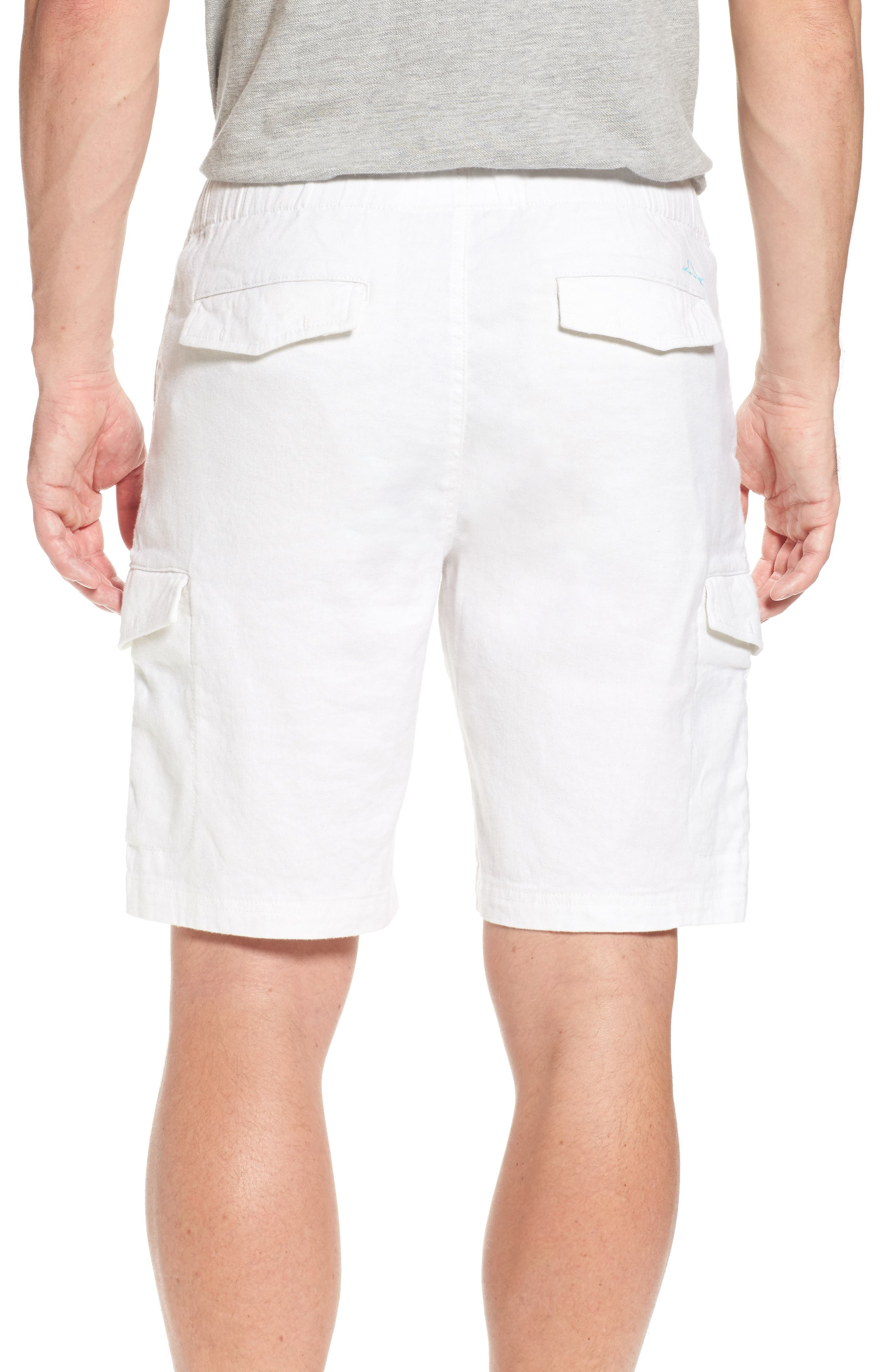 Beach Authentic Fit Linen Blend Cargo Shorts,                             Alternate thumbnail 2, color,                             Continental