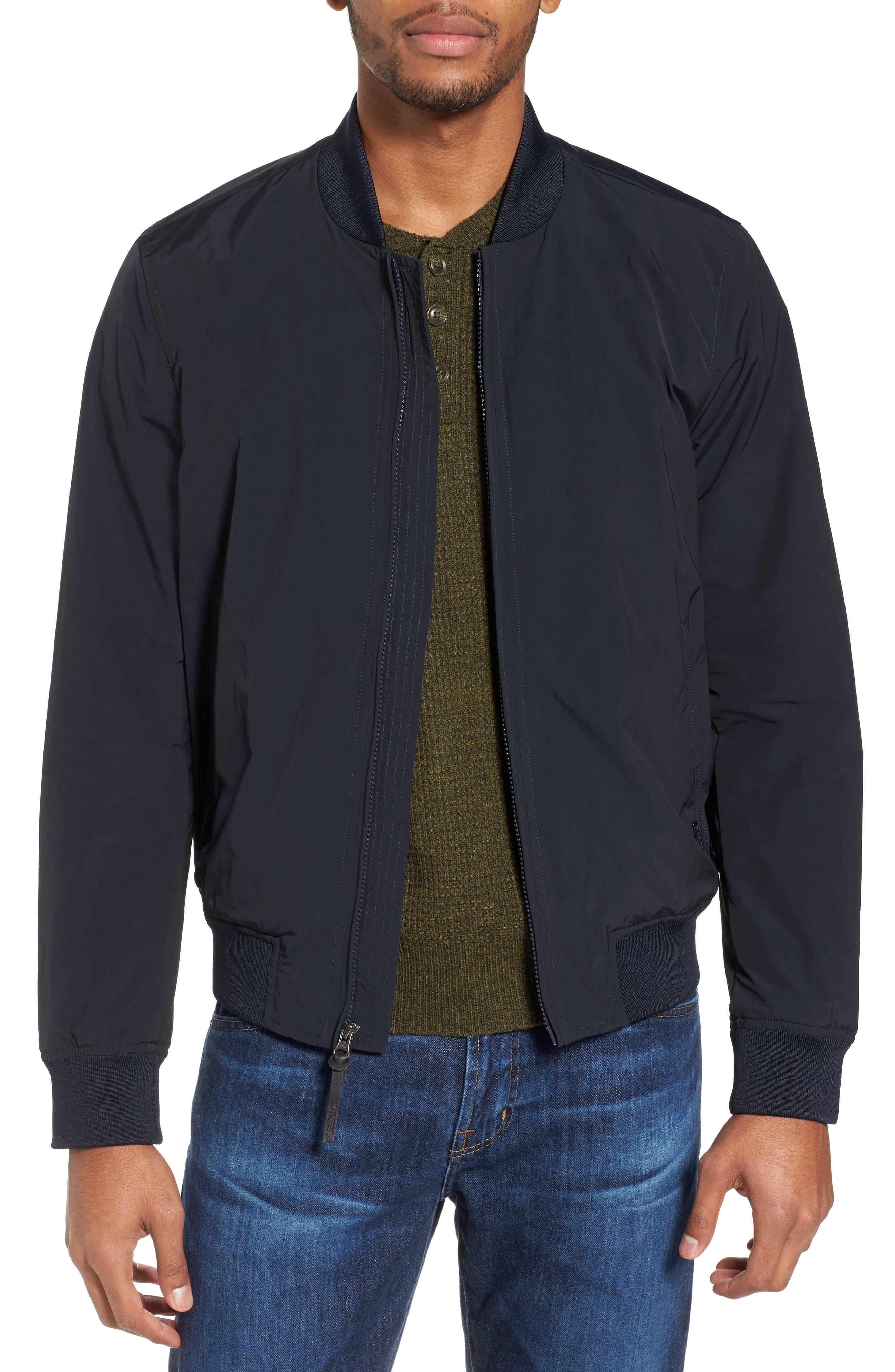 Shore Bomber Jacket,                         Main,                         color, Midnight Blue