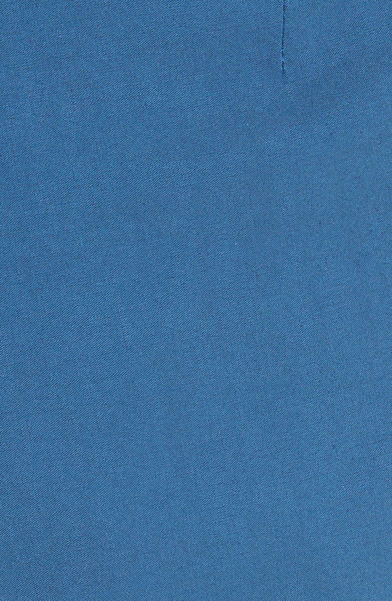 Poppy Belted Cotton & Linen Blend Shorts,                             Alternate thumbnail 5, color,                             Blue