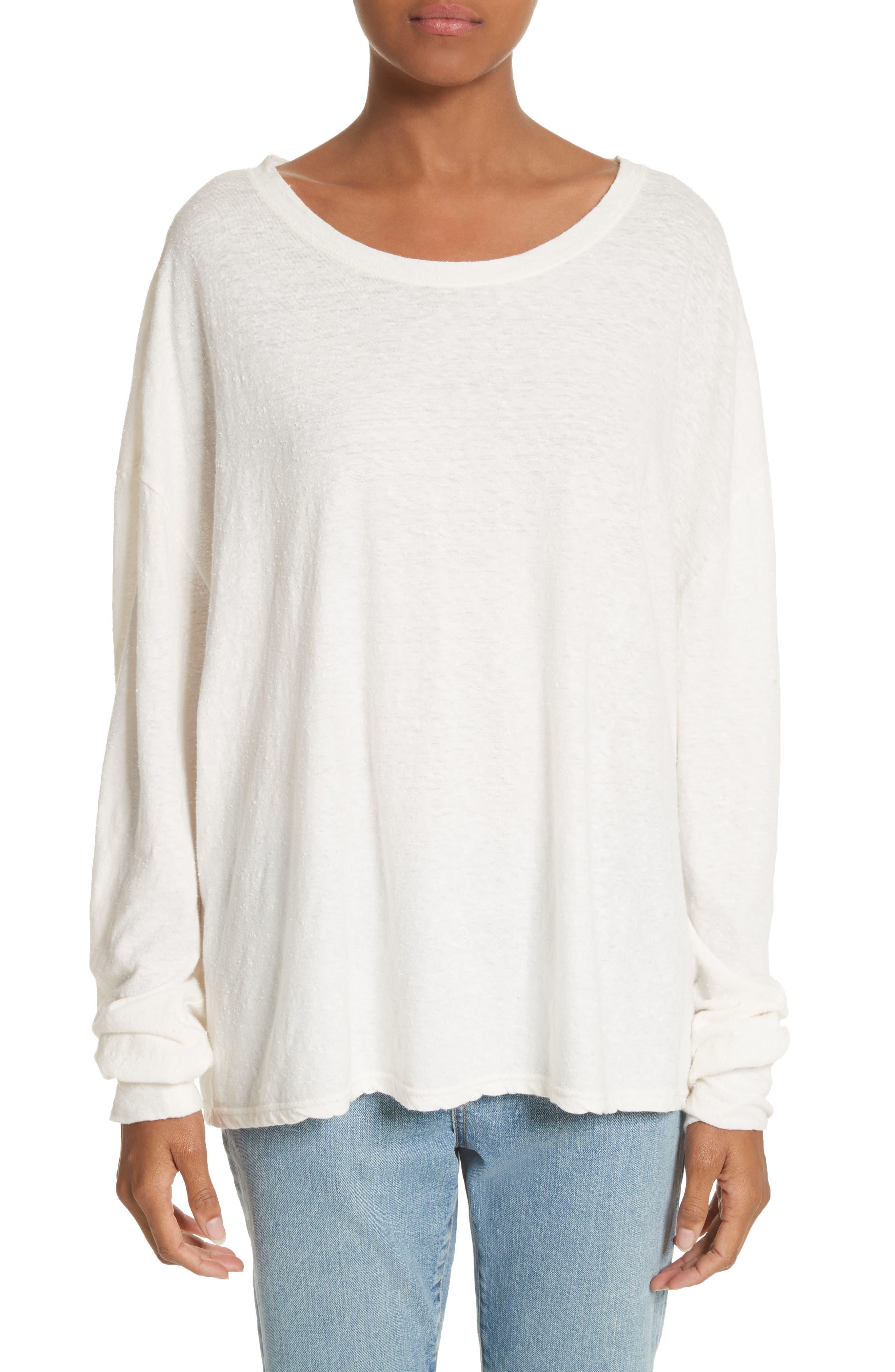 Solano Oversize Cotton Top,                         Main,                         color, White
