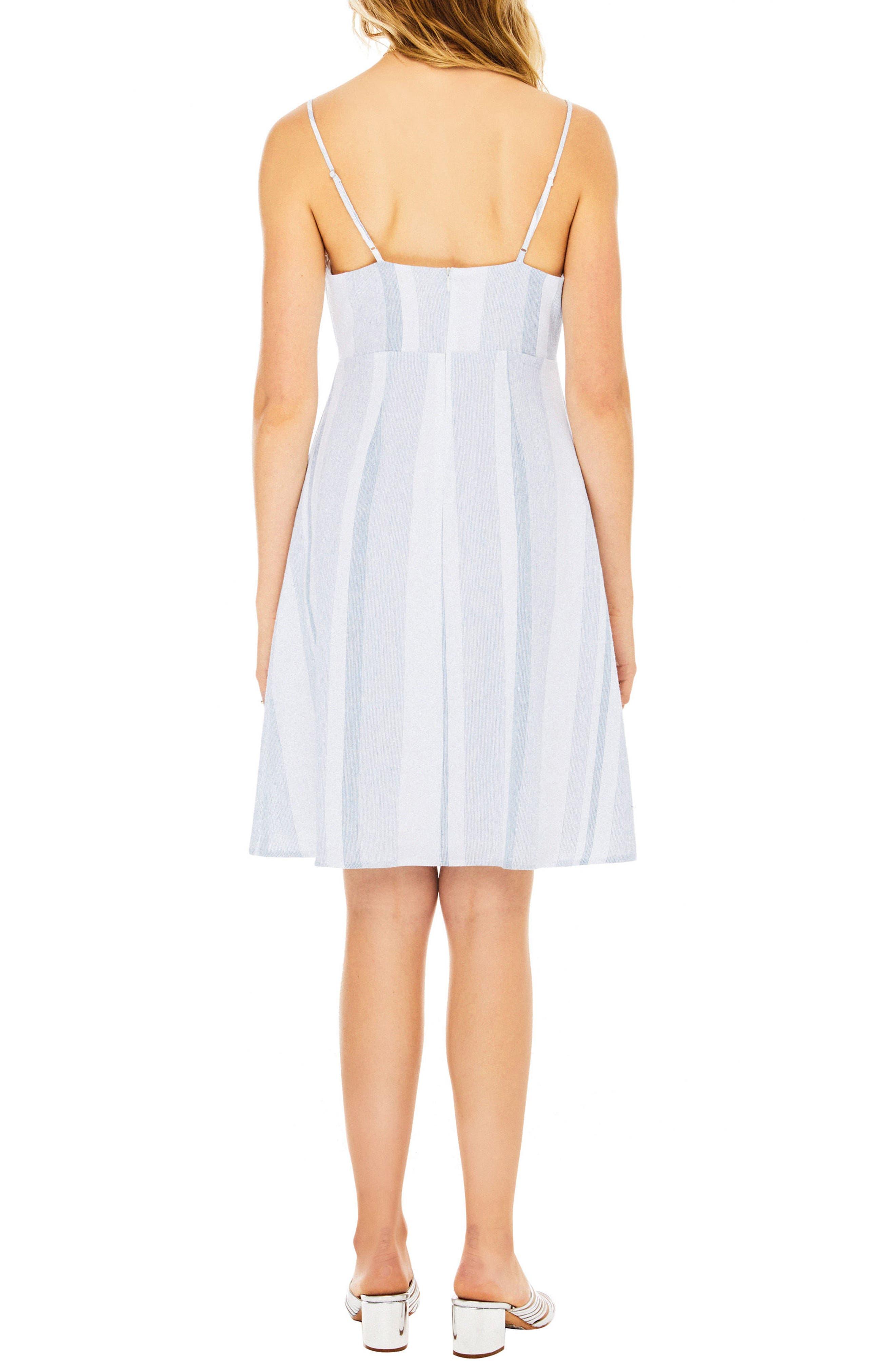 Parker Dress,                             Alternate thumbnail 2, color,                             Sky Blue Stripe