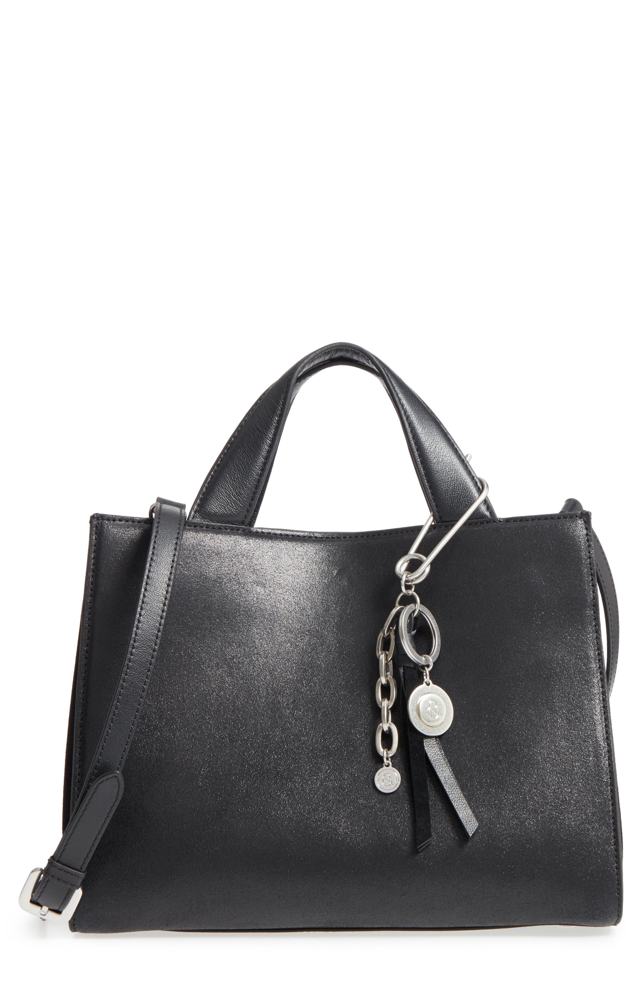 Treasure & Bond Tyler Metallic Leather Satchel
