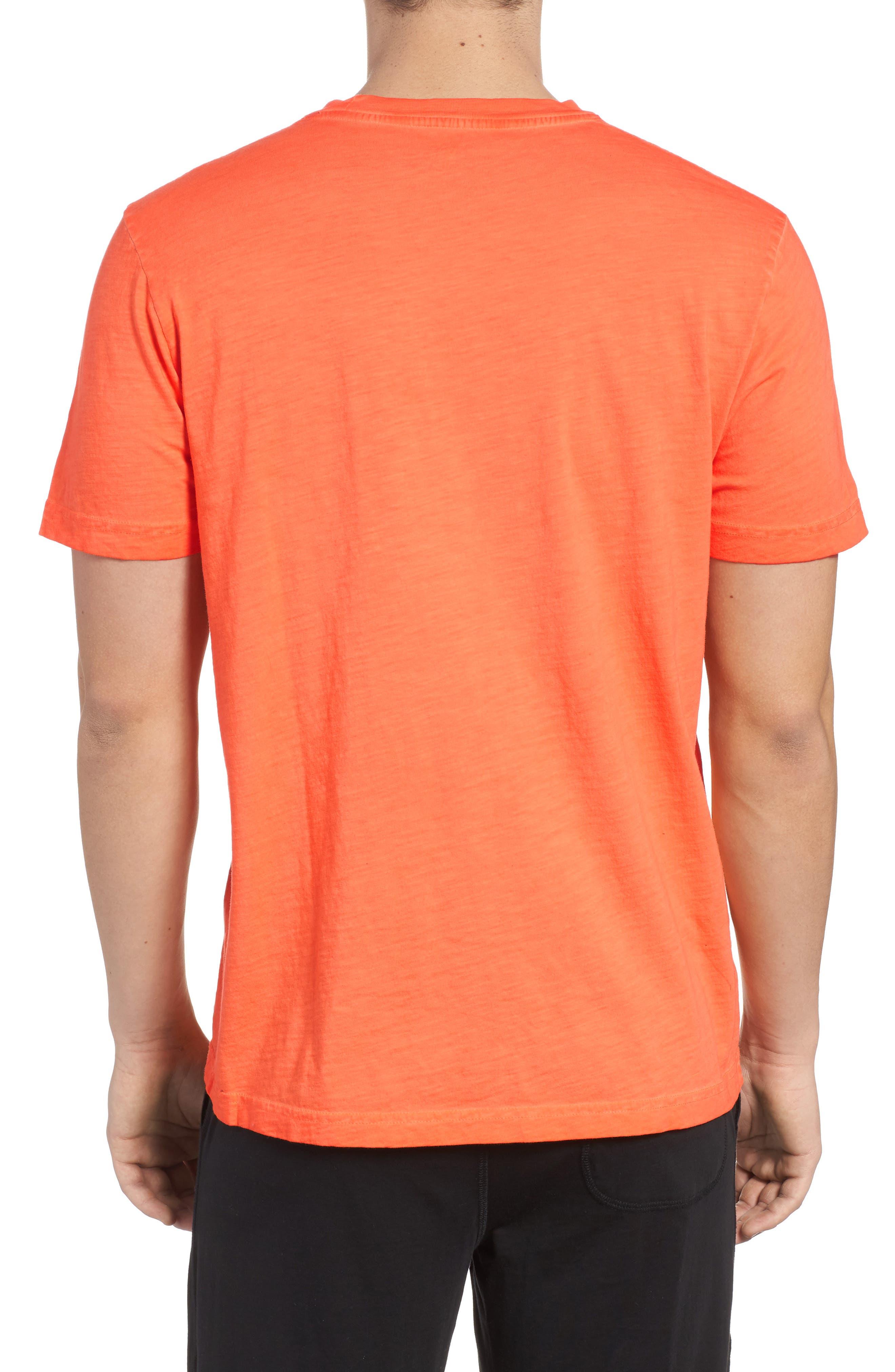 Sunwash Pocket T-Shirt,                             Alternate thumbnail 2, color,                             Mango