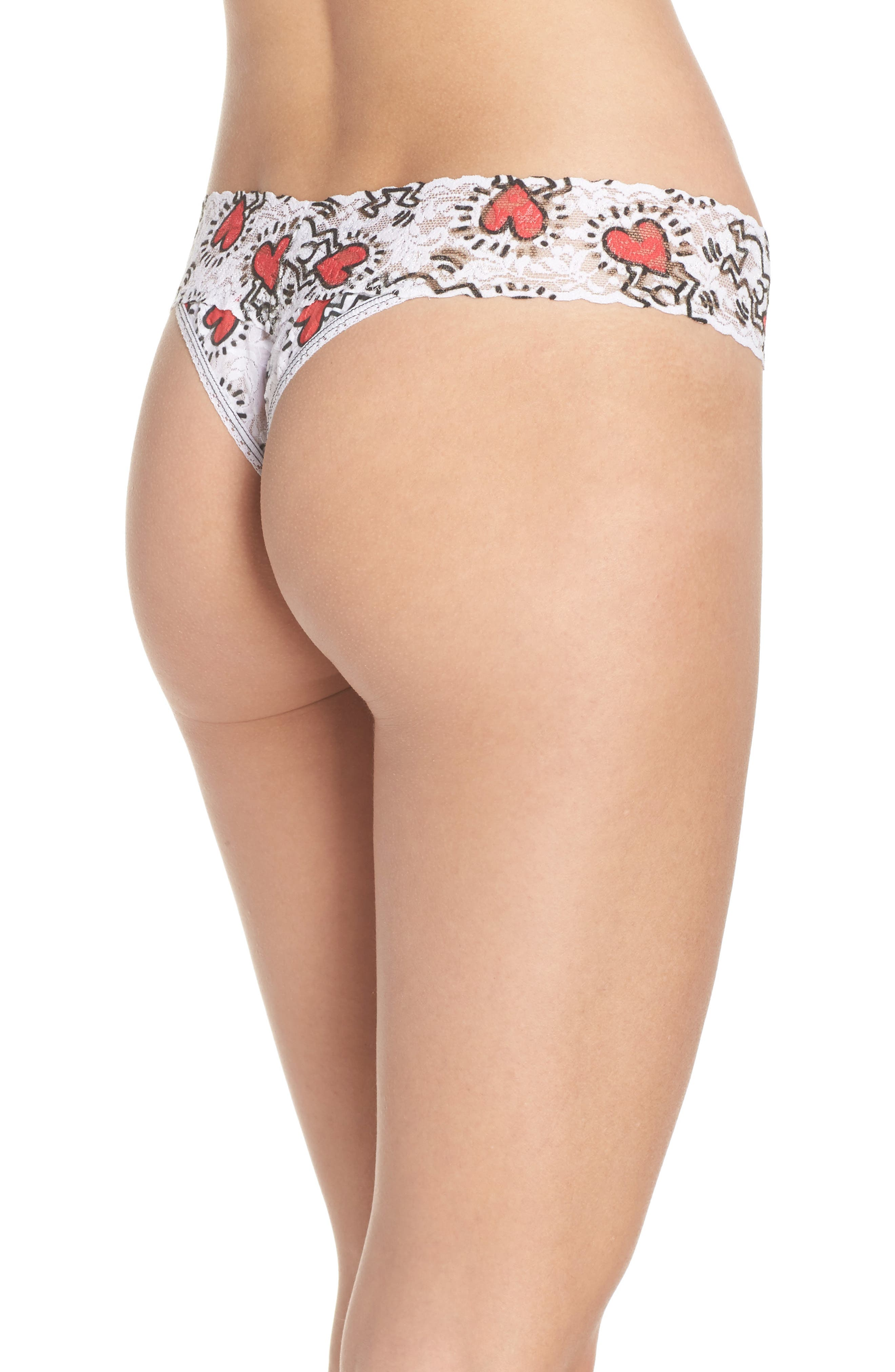 Keith Haring Hearts Original Rise Thong,                             Alternate thumbnail 2, color,                             Multi
