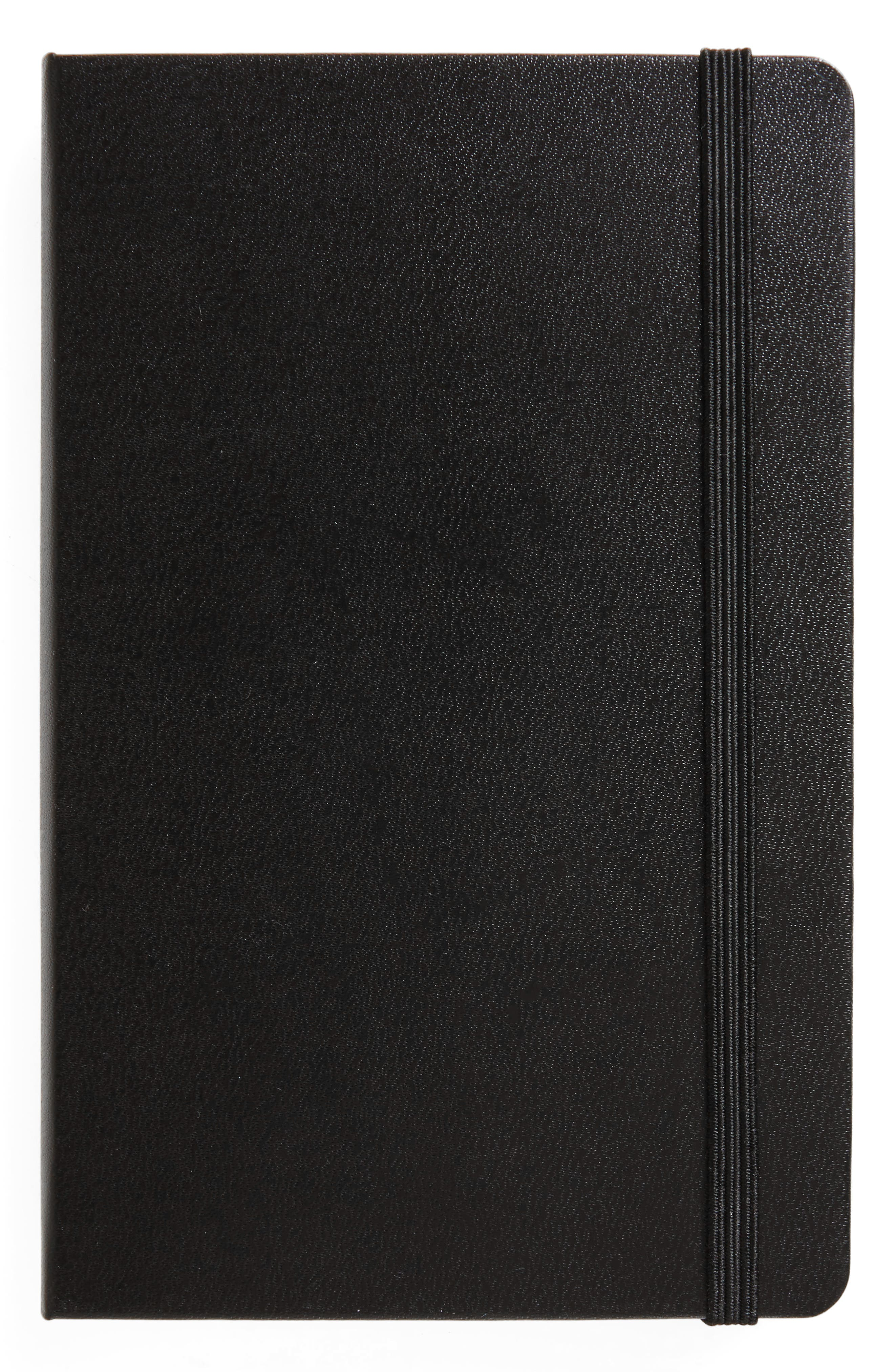 Classic Ruled Pocket Hardcover Notebook,                         Main,                         color, Black