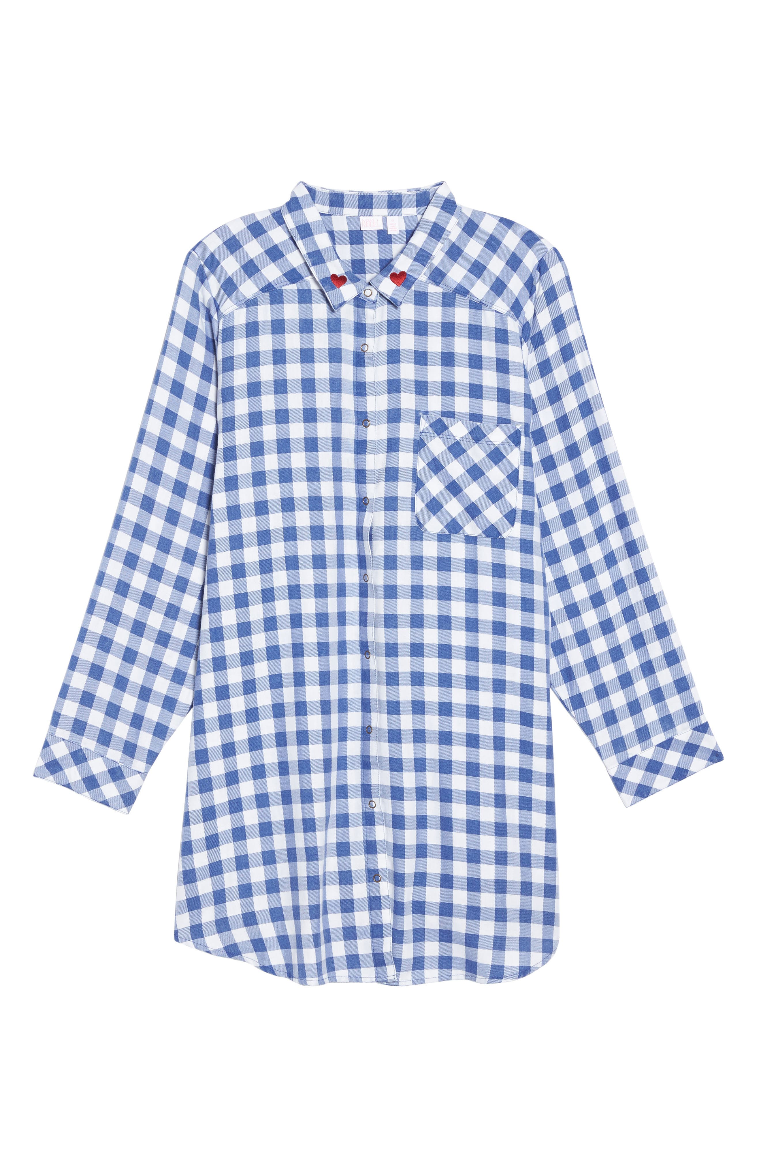 Alternate Image 4  - Make + Model Plaid Night Shirt (Plus Size)
