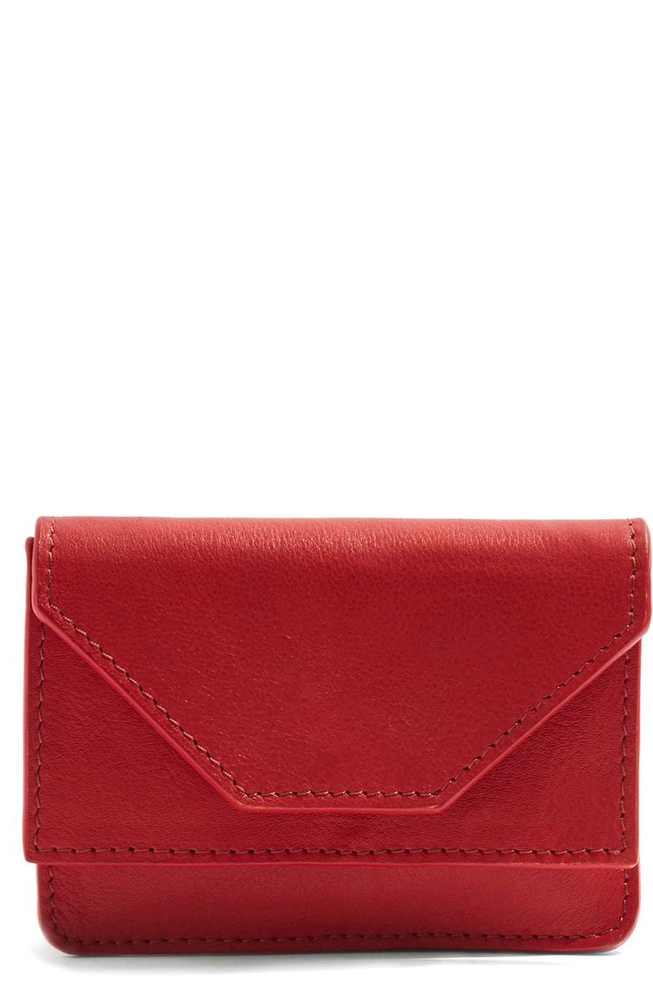 Alternate Image 1 Selected - Topshop Leather Card Case