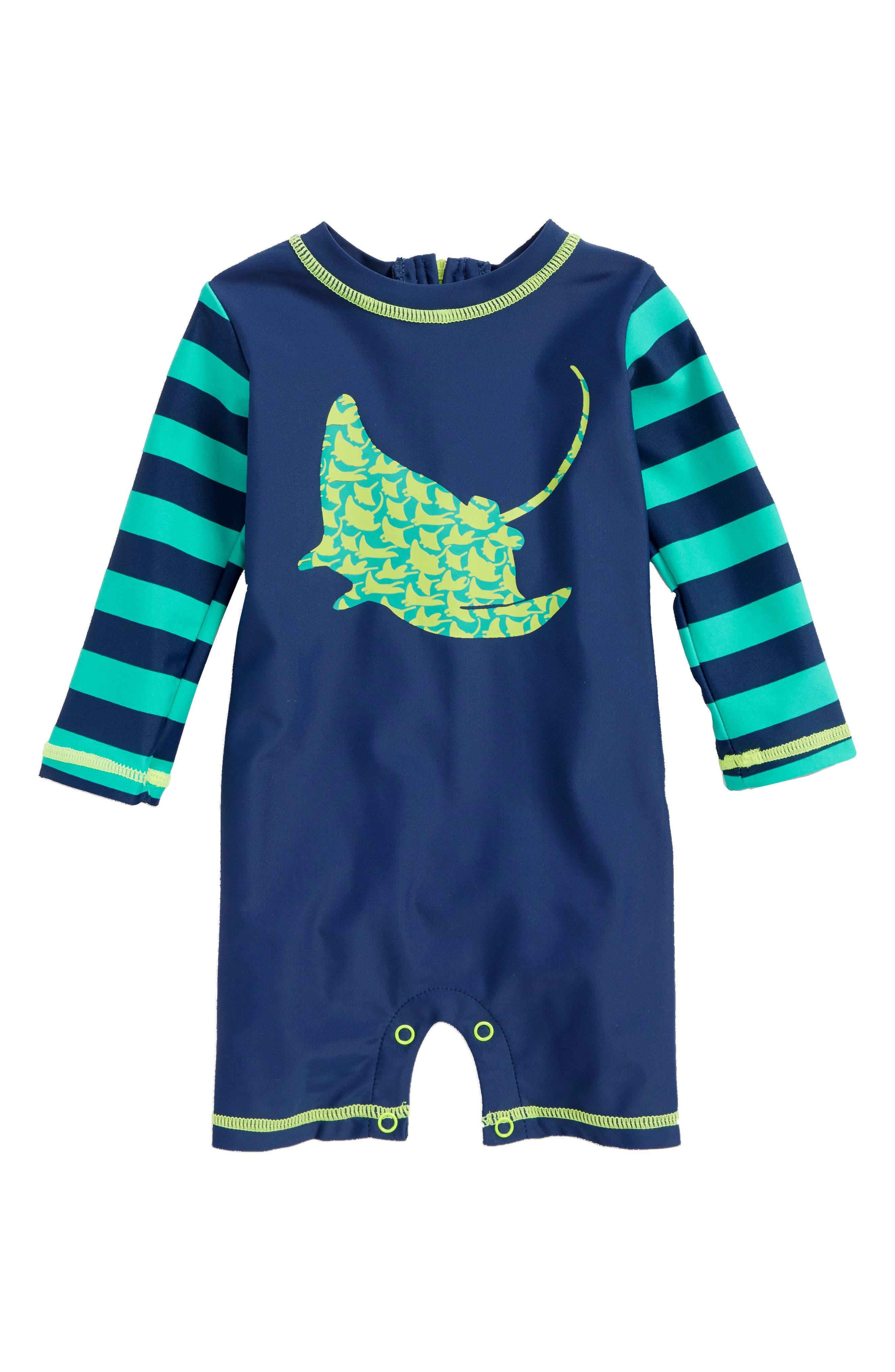 Alternate Image 1 Selected - Hatley One-Piece Rashguard Swimsuit (Baby Boys)