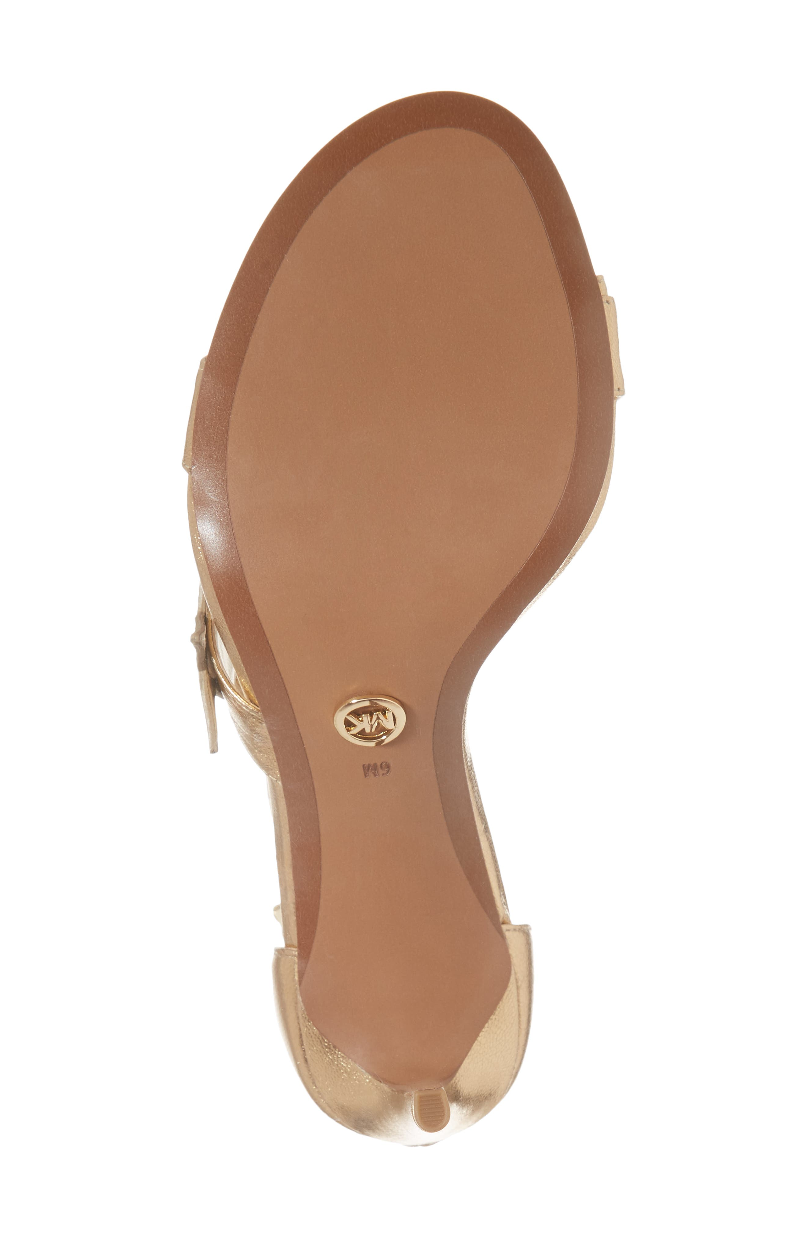 Lexie Sandal,                             Alternate thumbnail 6, color,                             Pale Gold Nappa Leather