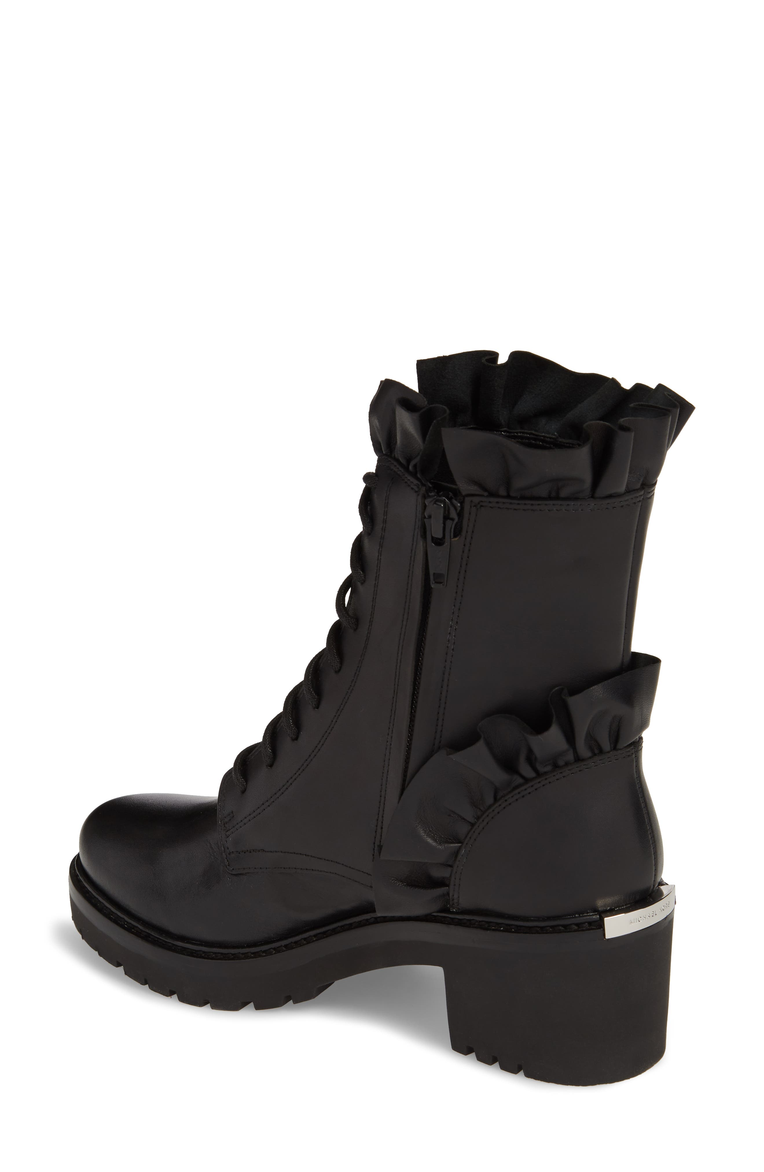 Bella Boot,                             Alternate thumbnail 2, color,                             Black Nappa Leather