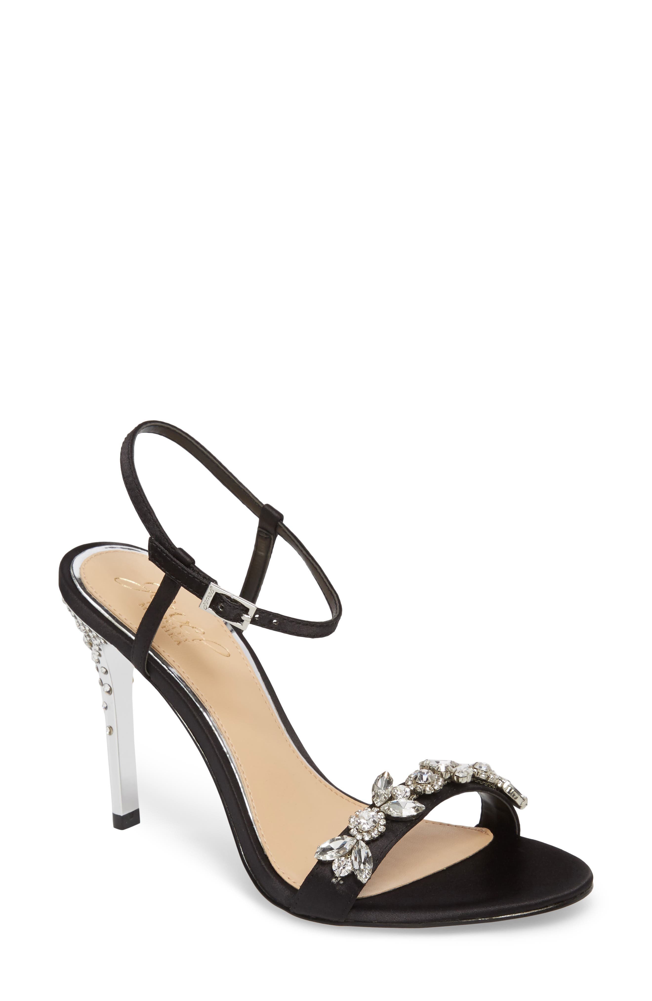 Tex Ankle Strap Sandal,                         Main,                         color, Black Satin