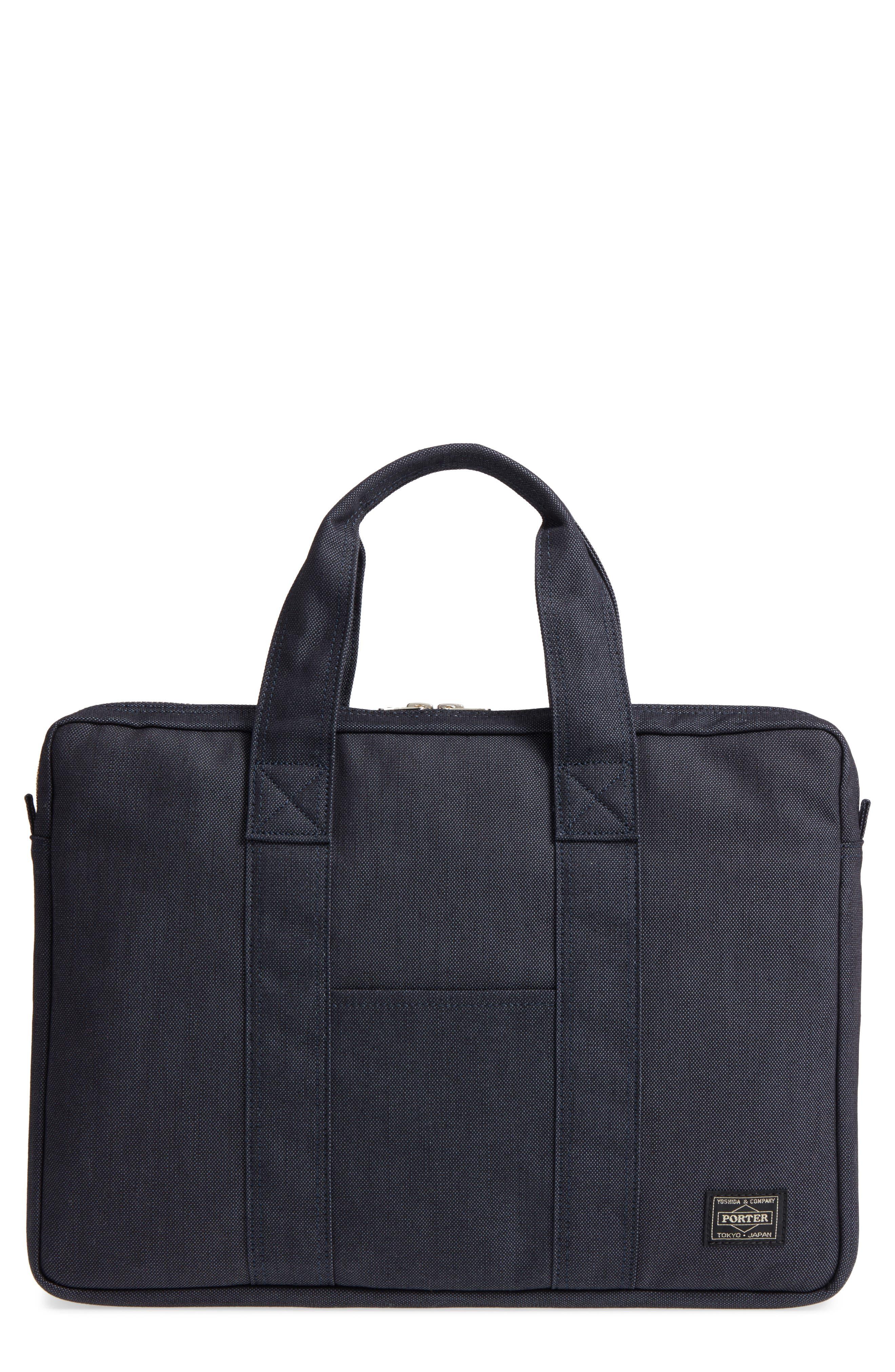 Porter-Yoshida & Co. Smoky Briefcase,                         Main,                         color, Navy
