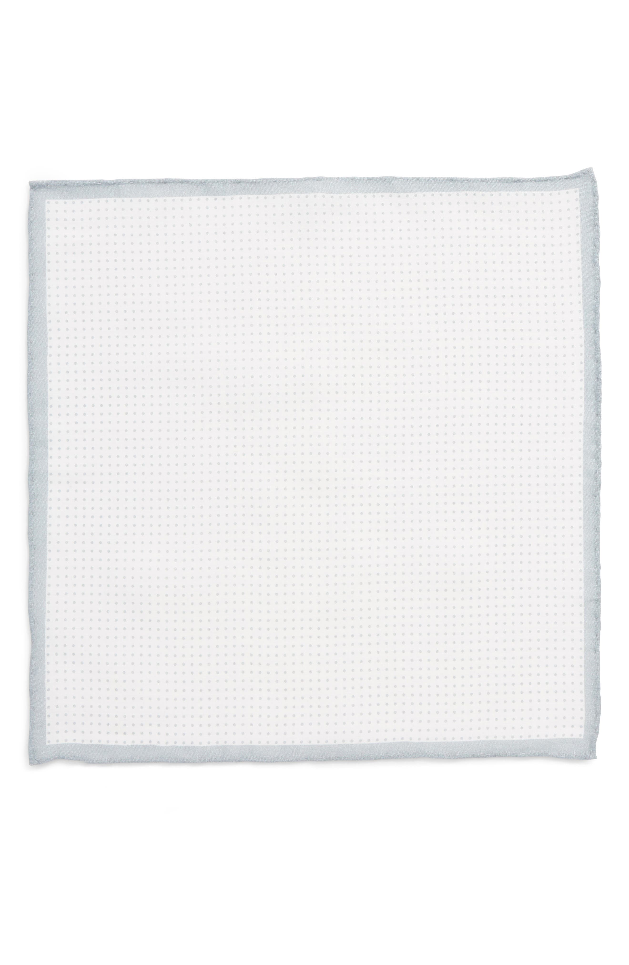 Alternate Image 2  - The Tie Bar Domino Dot Linen Pocket Square