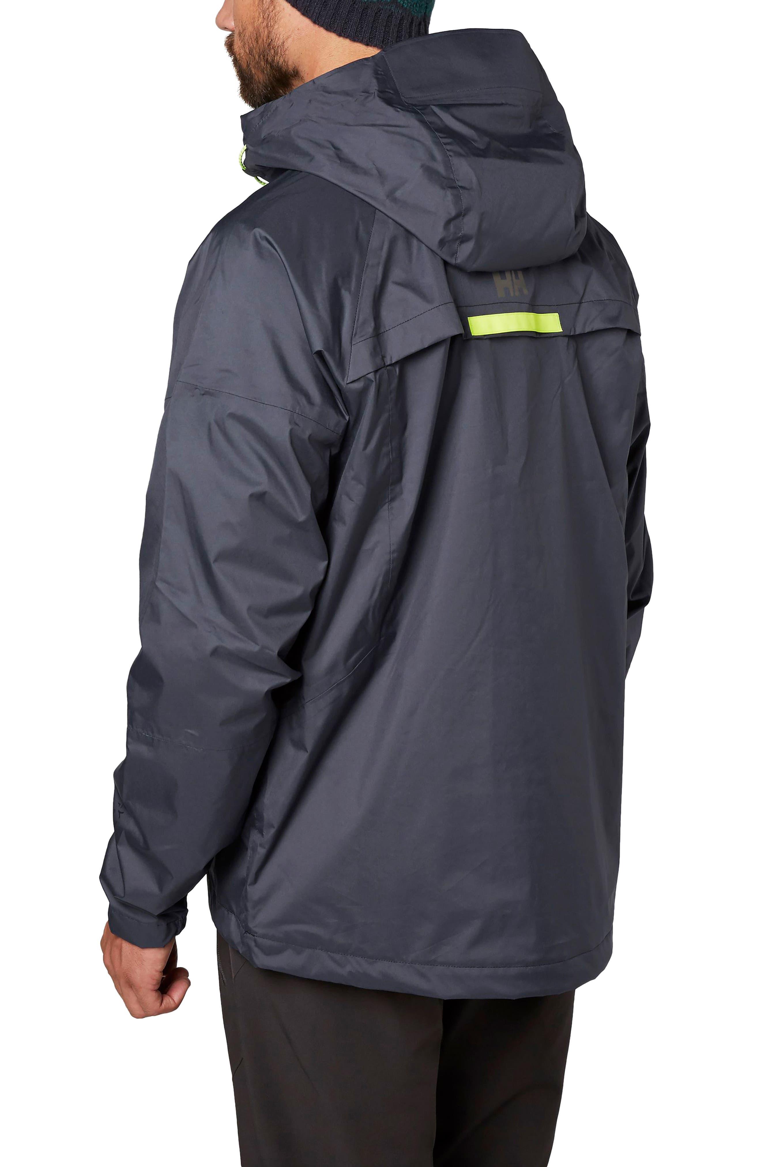 Loke Saga Waterproof Jacket,                             Alternate thumbnail 2, color,                             Graphite Blue