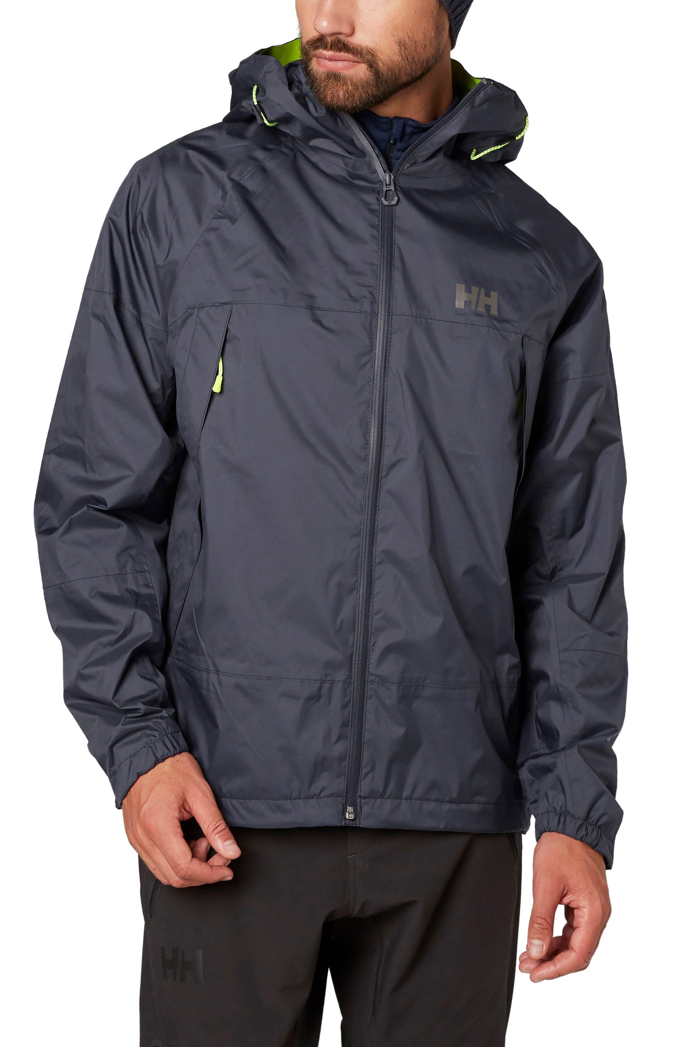 Loke Saga Waterproof Jacket,                             Main thumbnail 1, color,                             Graphite Blue