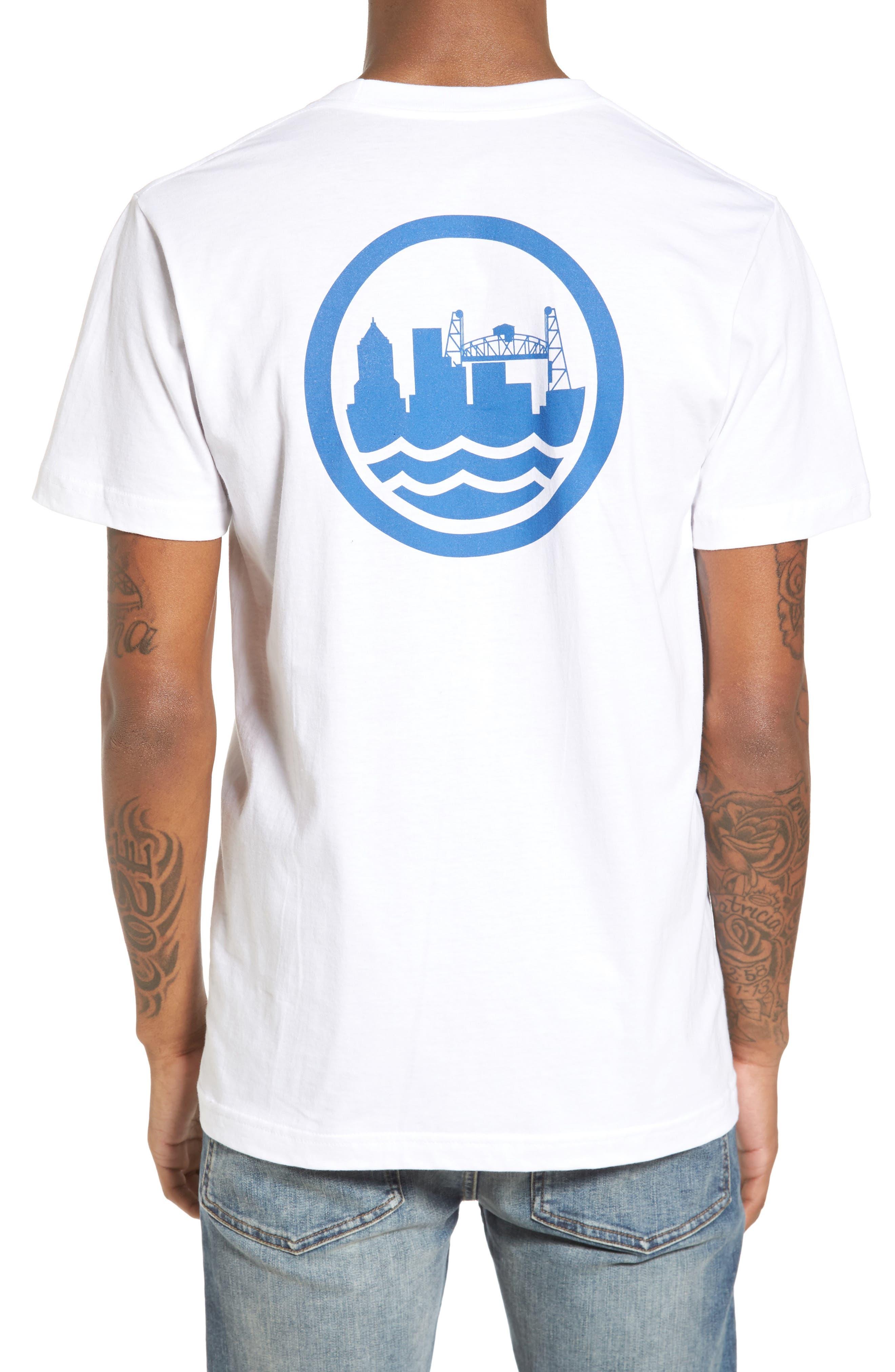 PDX T-Shirt,                             Alternate thumbnail 2, color,                             White