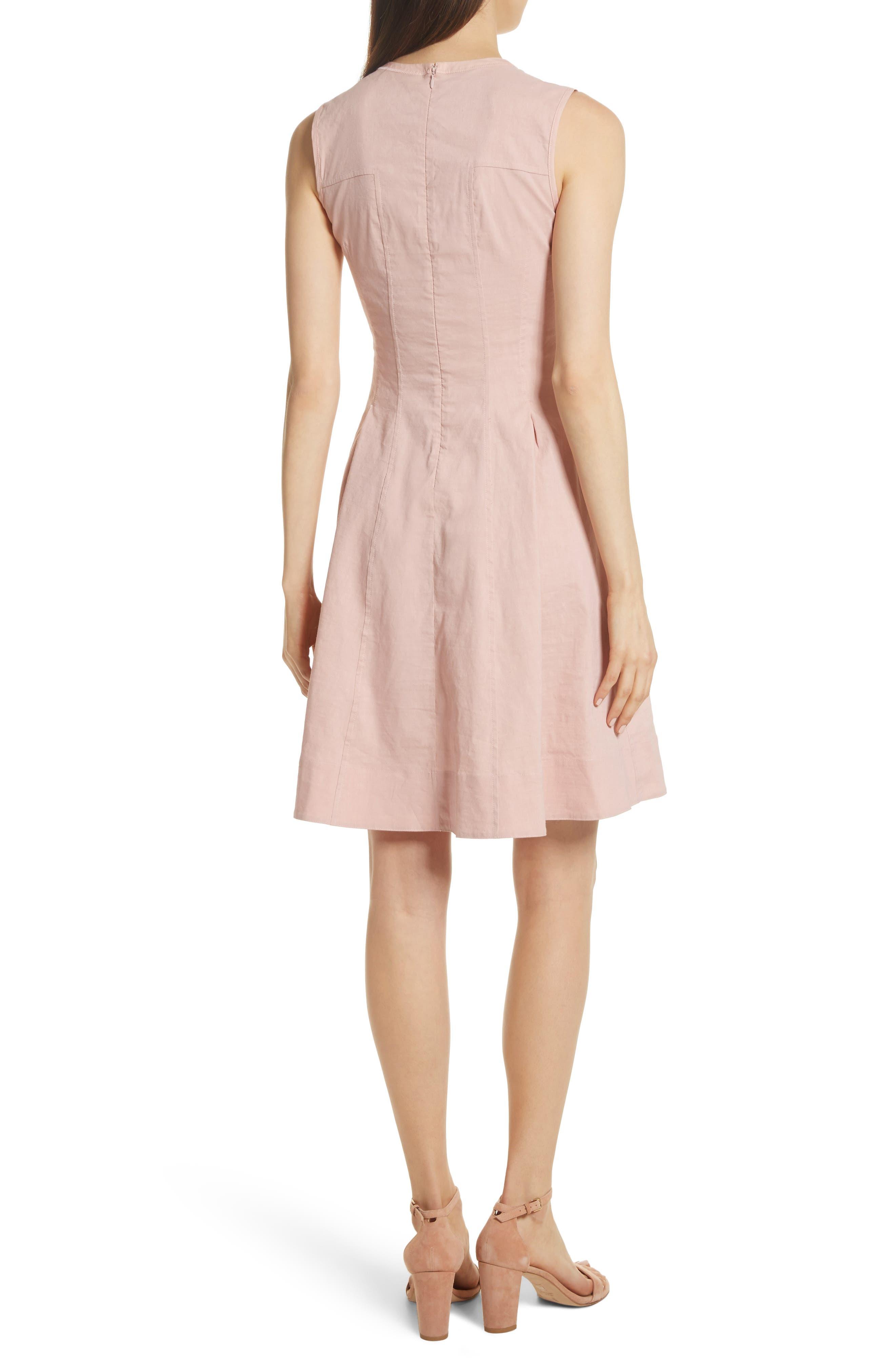 Modern Tea Dress,                             Alternate thumbnail 2, color,                             Pink Ballet