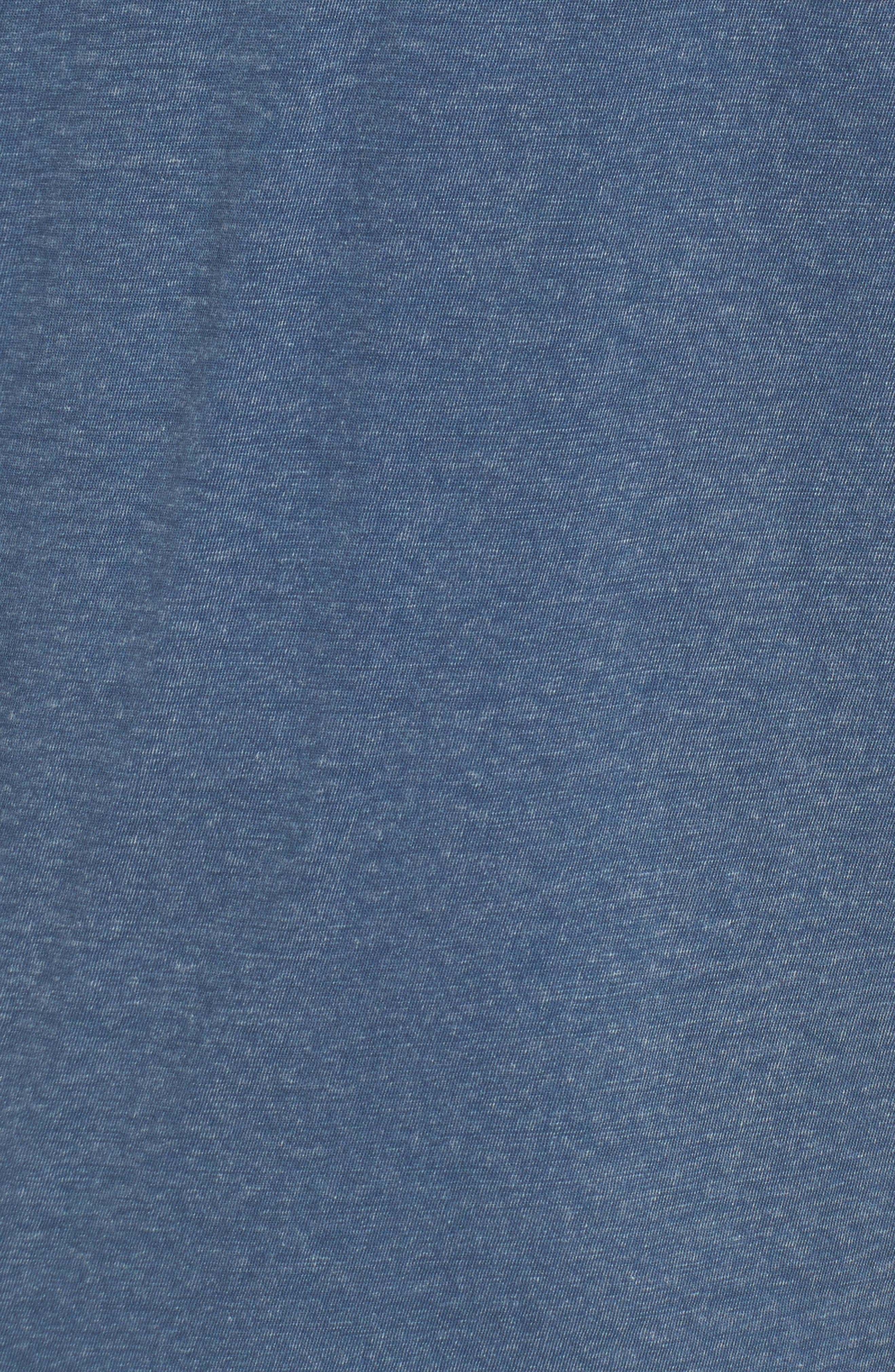 Regular Fit Cotton Henley,                             Alternate thumbnail 5, color,                             Stream Blue