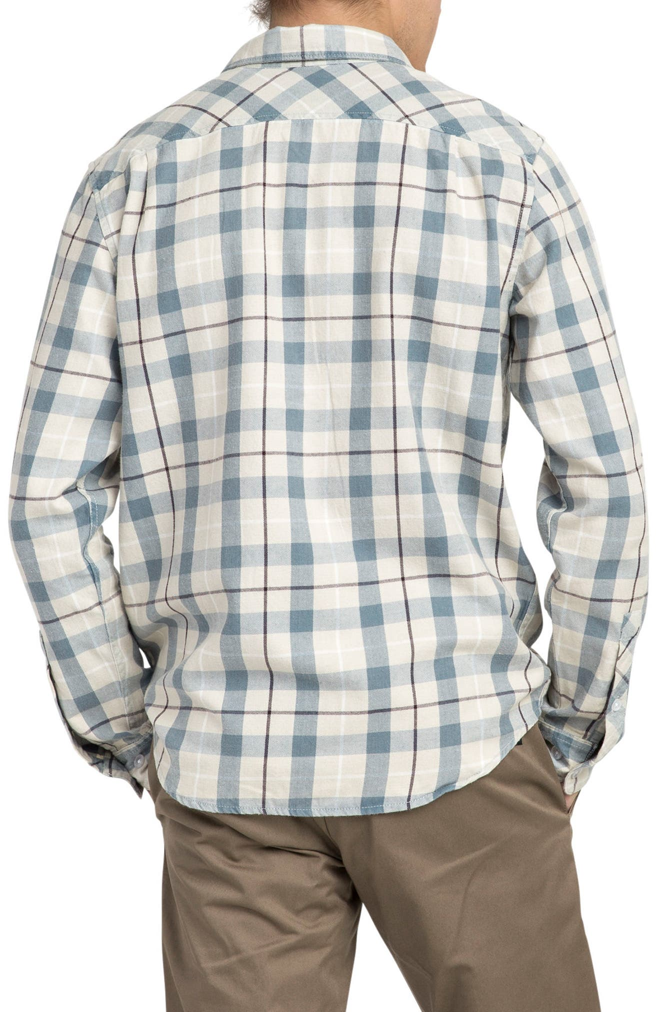 Alternate Image 2  - RVCA Treets Plaid Flannel Shirt