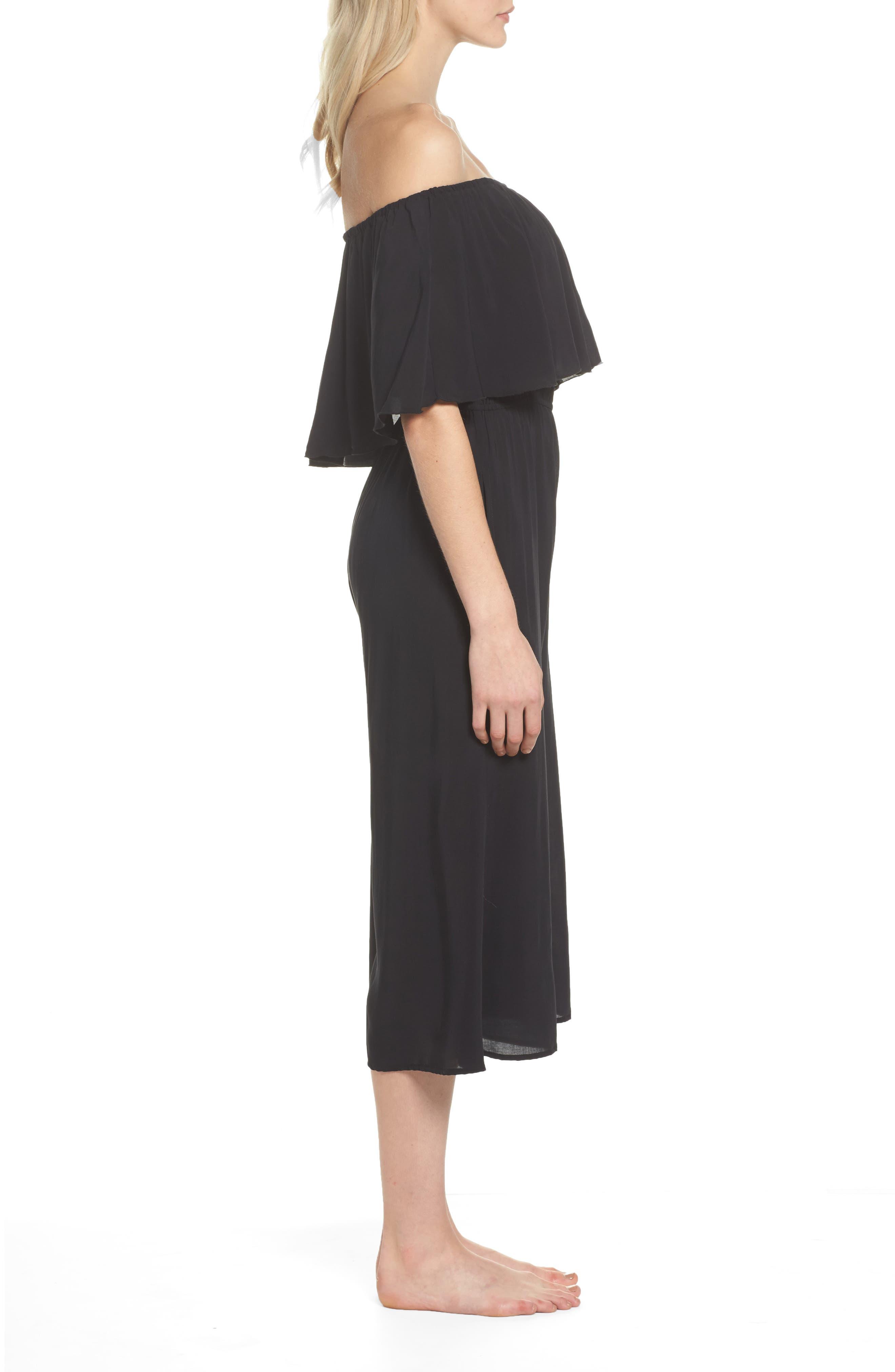 Alternate Image 3  - Elan Off the Shoulder Cover-Up Jumpsuit