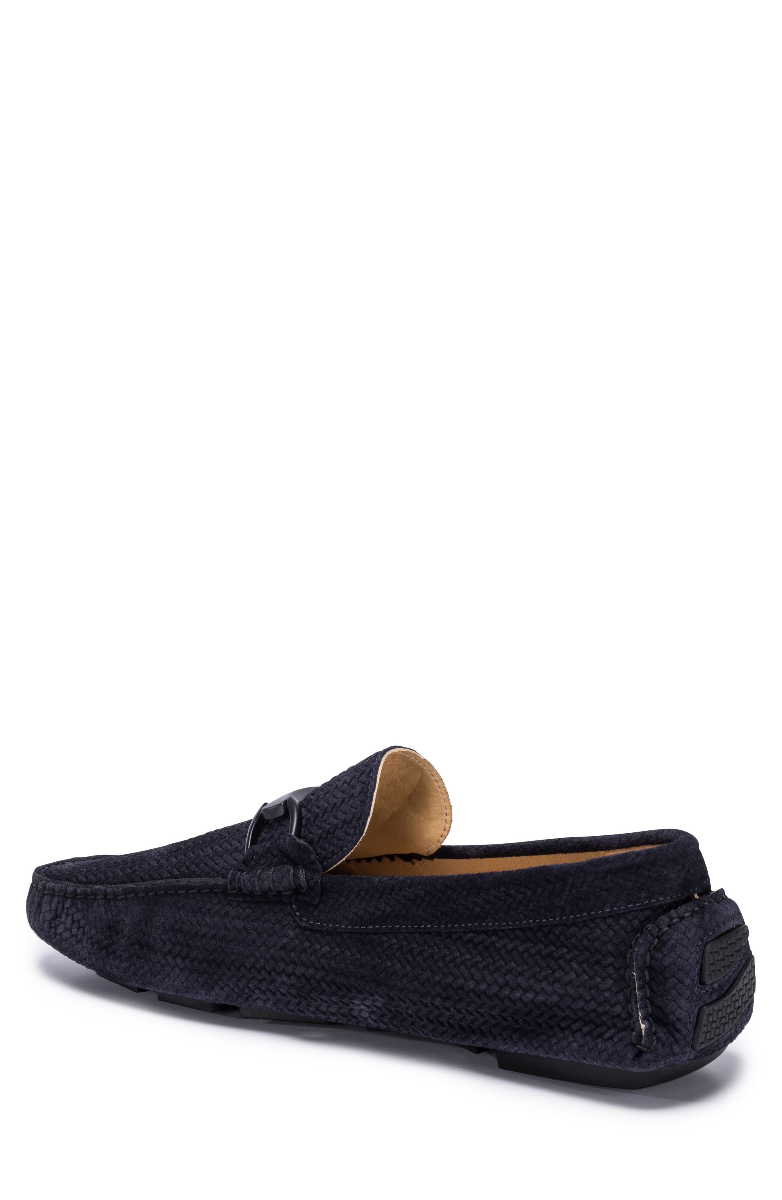 Amalfi Woven Bit Driving Loafer,                             Alternate thumbnail 2, color,                             Blue Suede