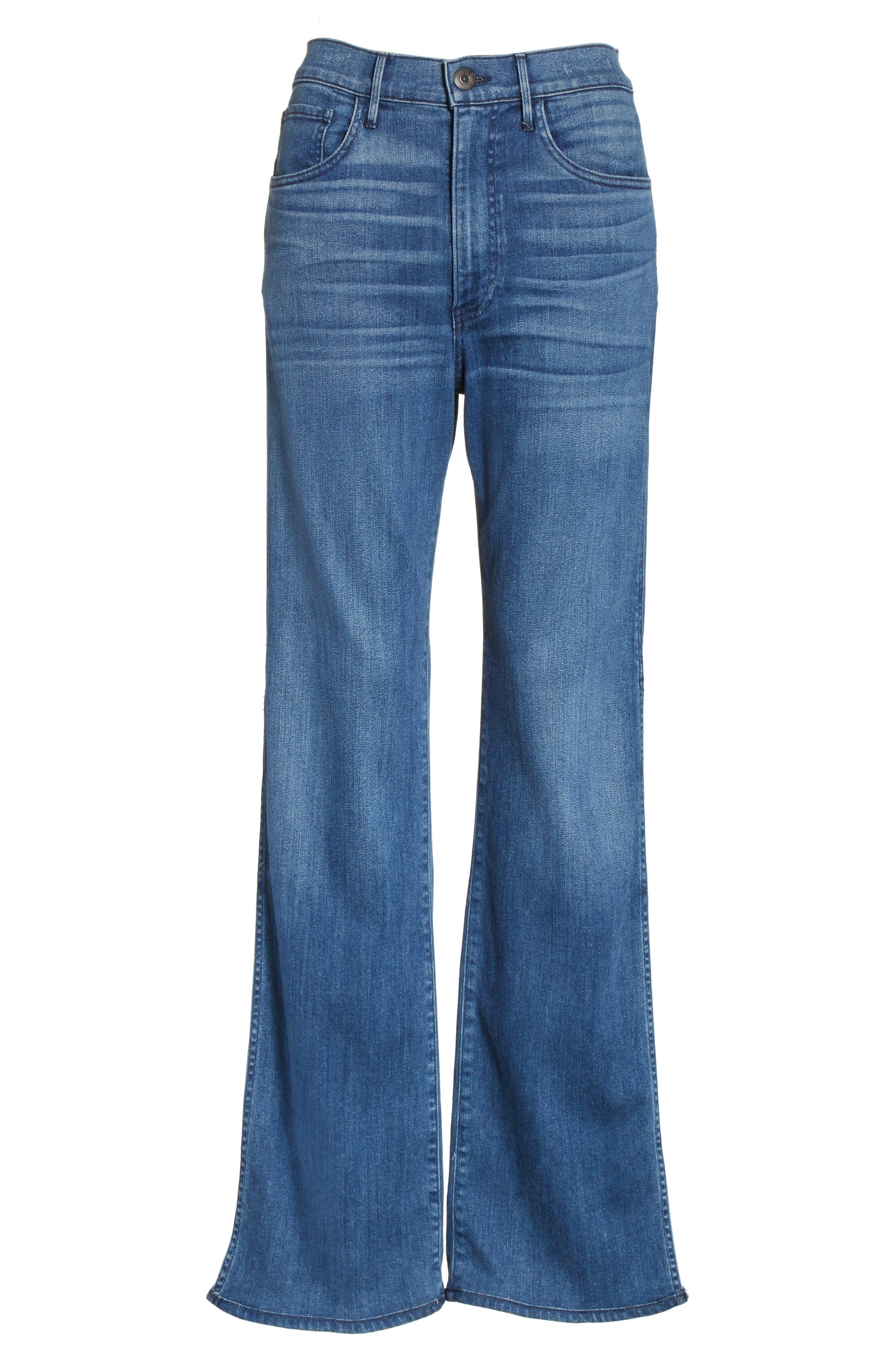 W4 Adeline High Waist Split Flare Jeans,                             Alternate thumbnail 6, color,                             Leia
