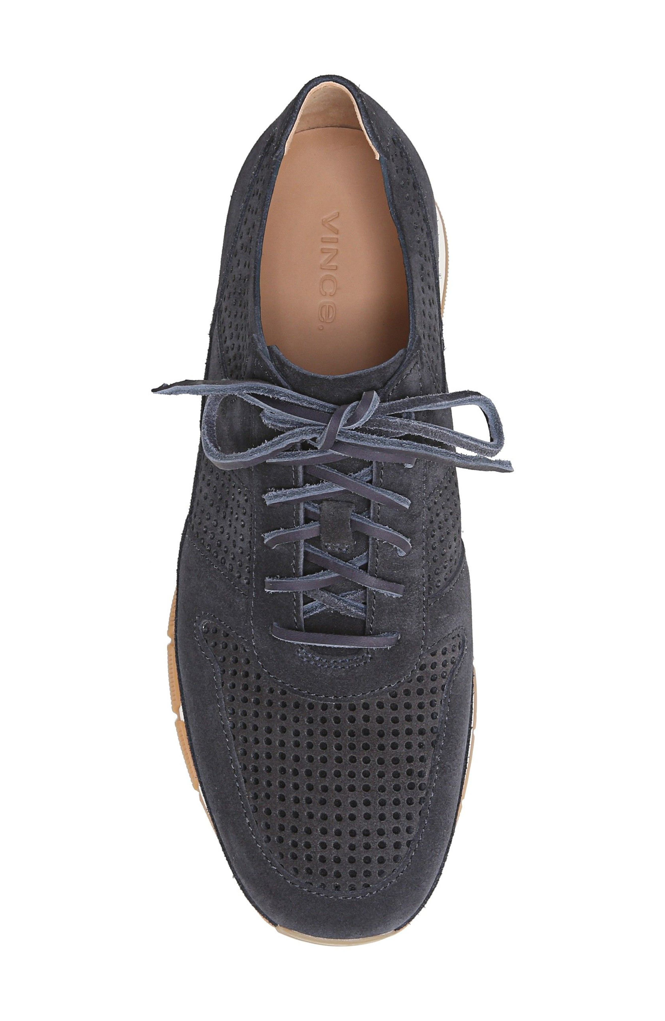 Larson Perforated Sneaker,                             Alternate thumbnail 5, color,                             Coastal