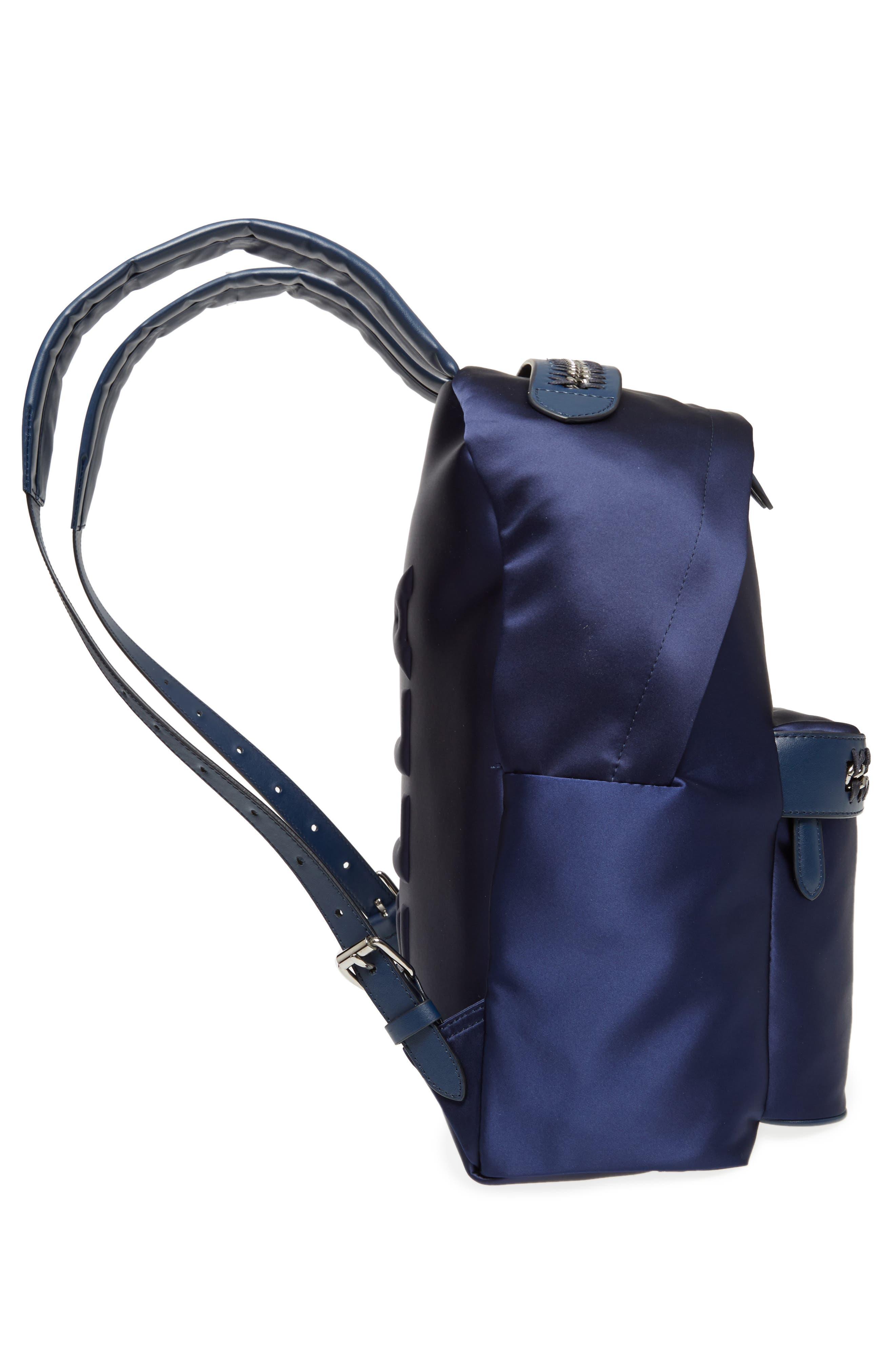 Alternate Image 5  - Stella McCartney Logo Embossed Satin Backpack