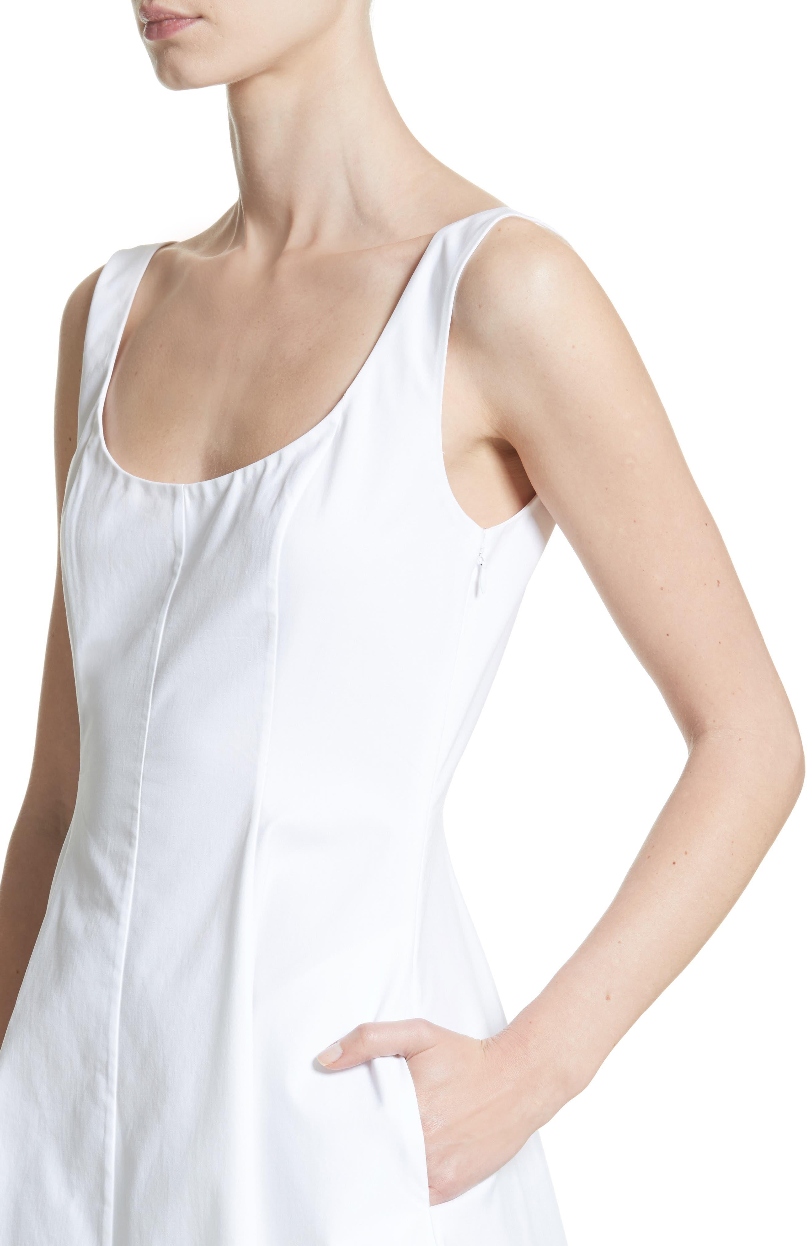 Cindy Poplin Tank Dress,                             Alternate thumbnail 4, color,                             White