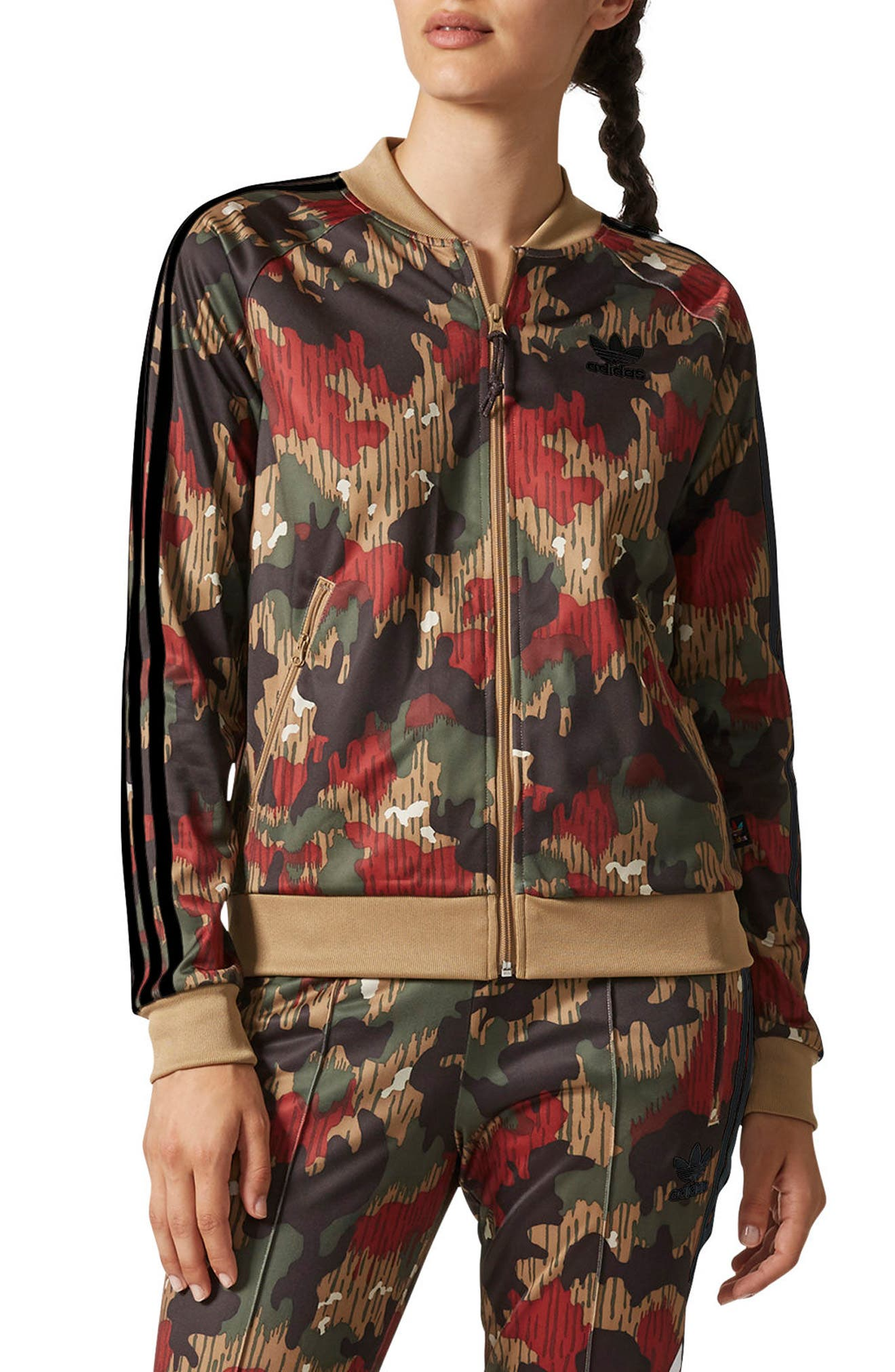 Originals Pharrell Williams Hu Hiking Jacket,                             Main thumbnail 1, color,                             Swiss Camo