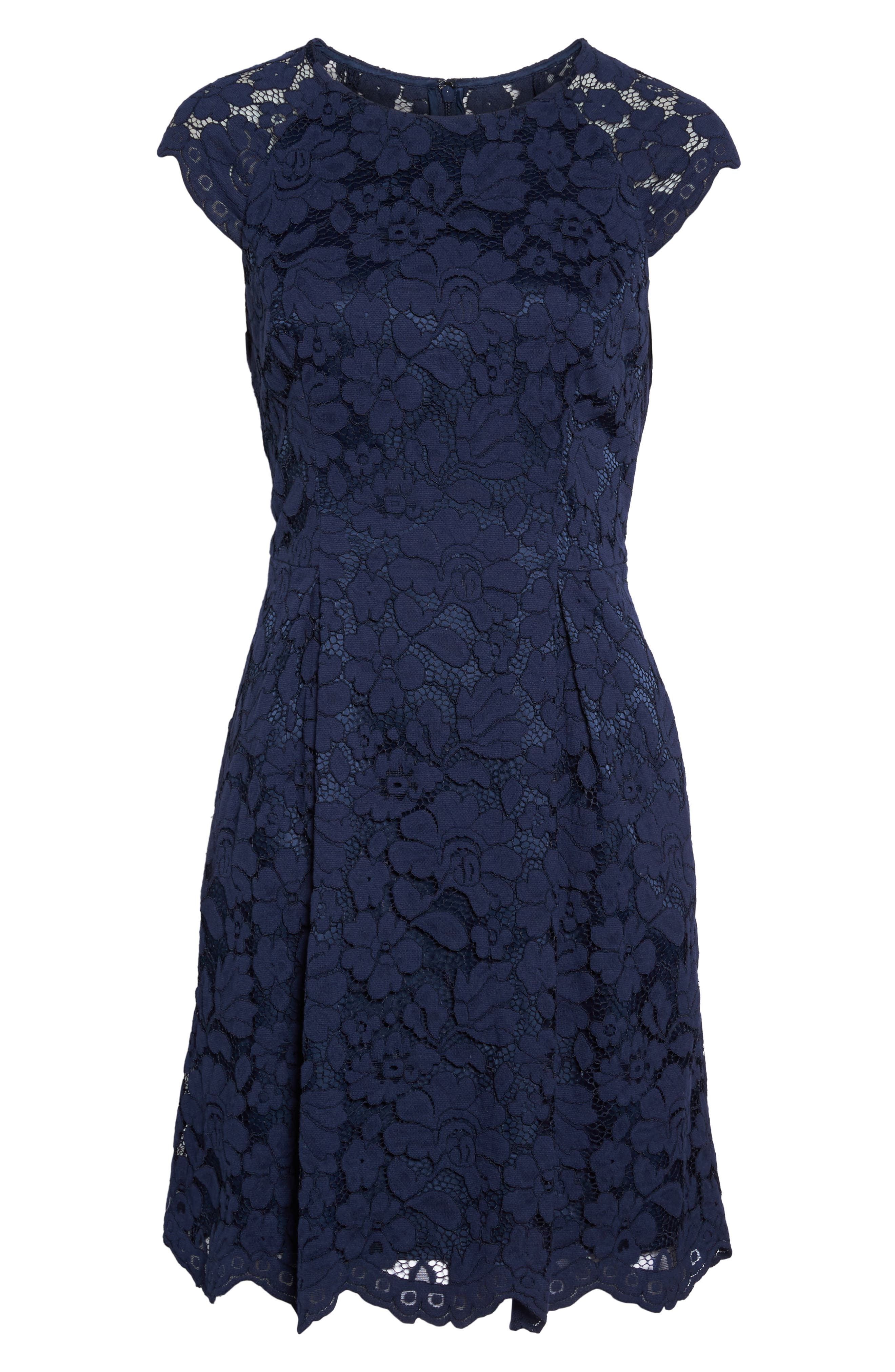 Alternate Image 6  - Vince Camuto Lace Fit & Flare Dress