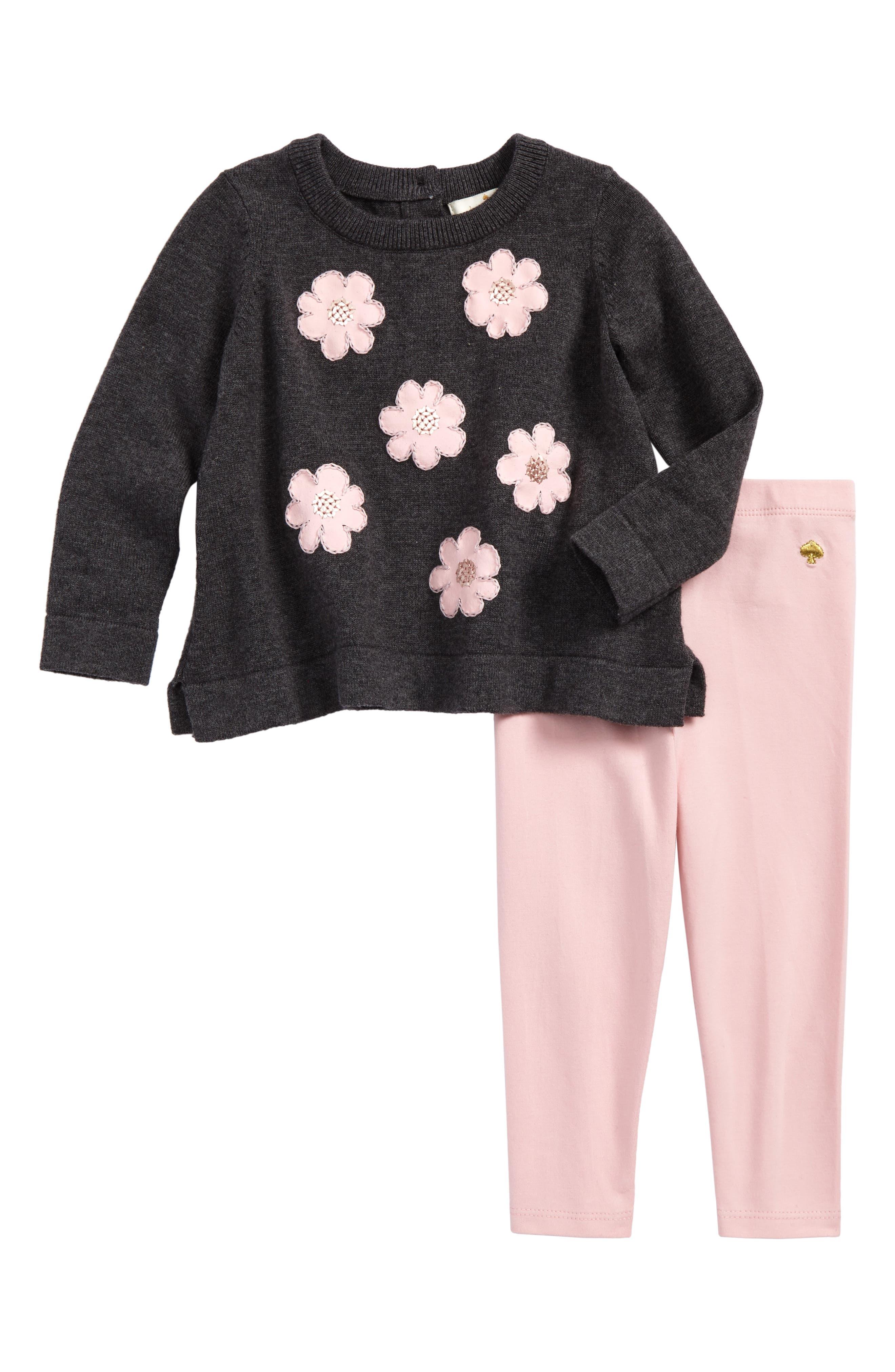 kate spade new york swing sweater & leggings set (Baby Girls)