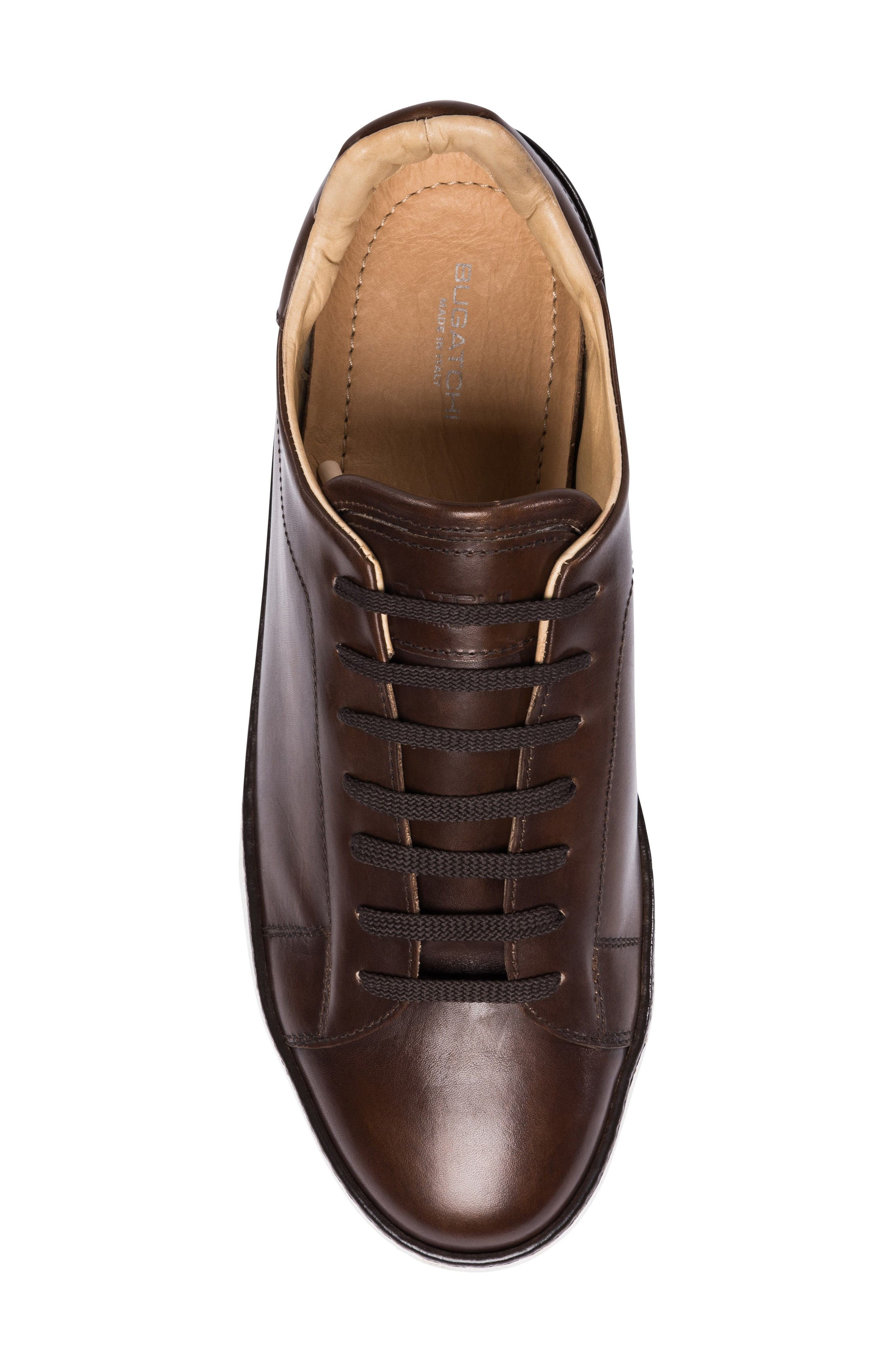 Firenze Low Top Sneaker,                             Alternate thumbnail 5, color,                             Burgundy Leather