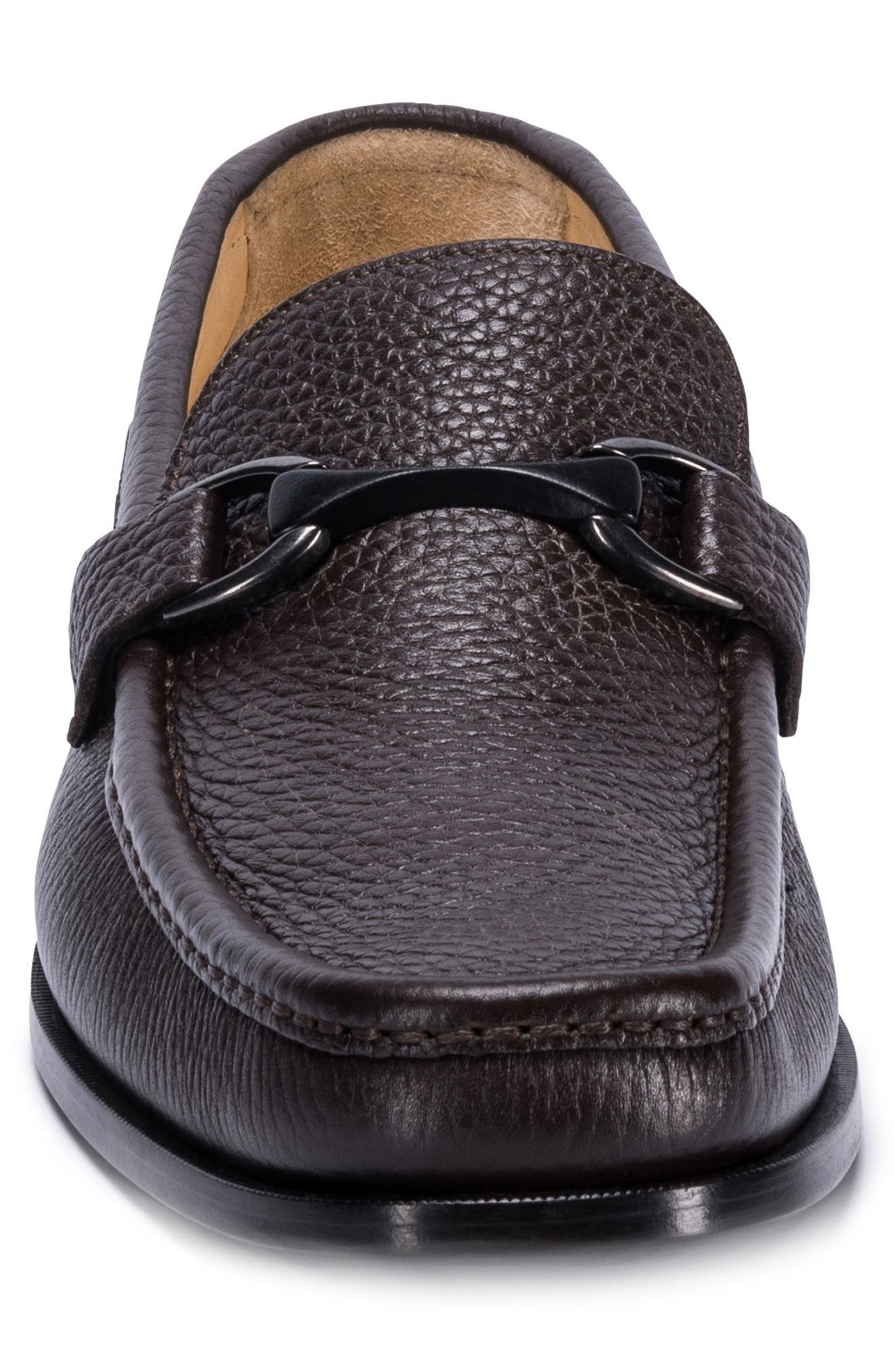 Padua Bit Loafer,                             Alternate thumbnail 4, color,                             Brown Leather