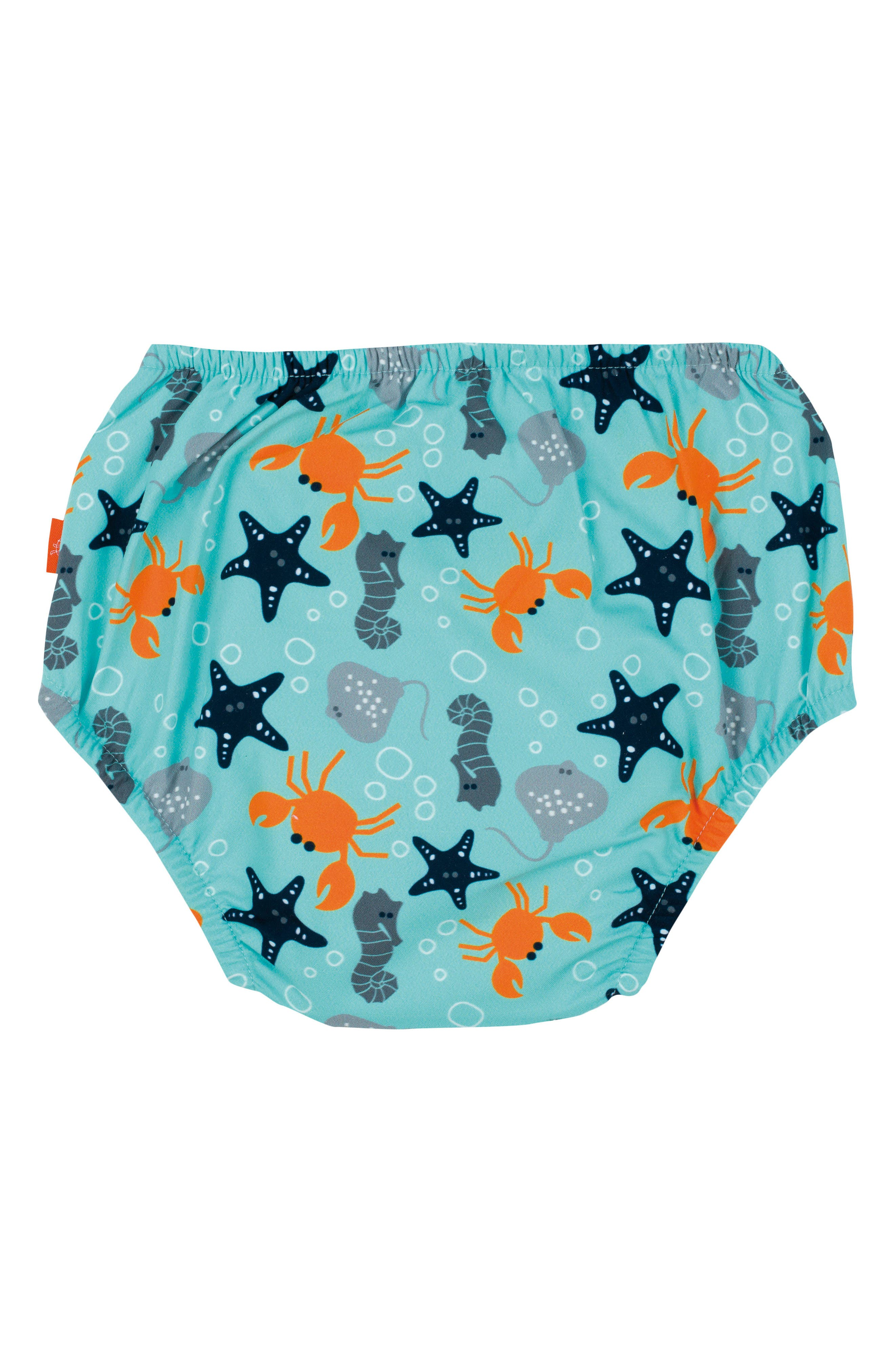 Star Fish Swim Diaper Cover,                             Alternate thumbnail 2, color,                             Light Blue Orange Grey Navy