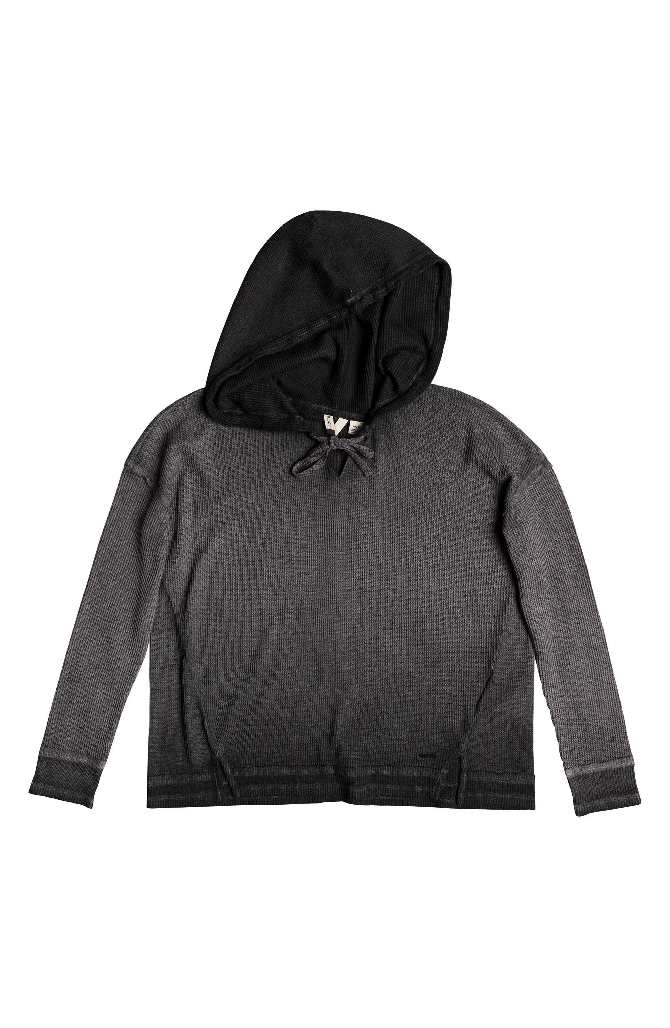 Wanted and Wild Hooded Thermal Top,                             Alternate thumbnail 5, color,                             Anthracite