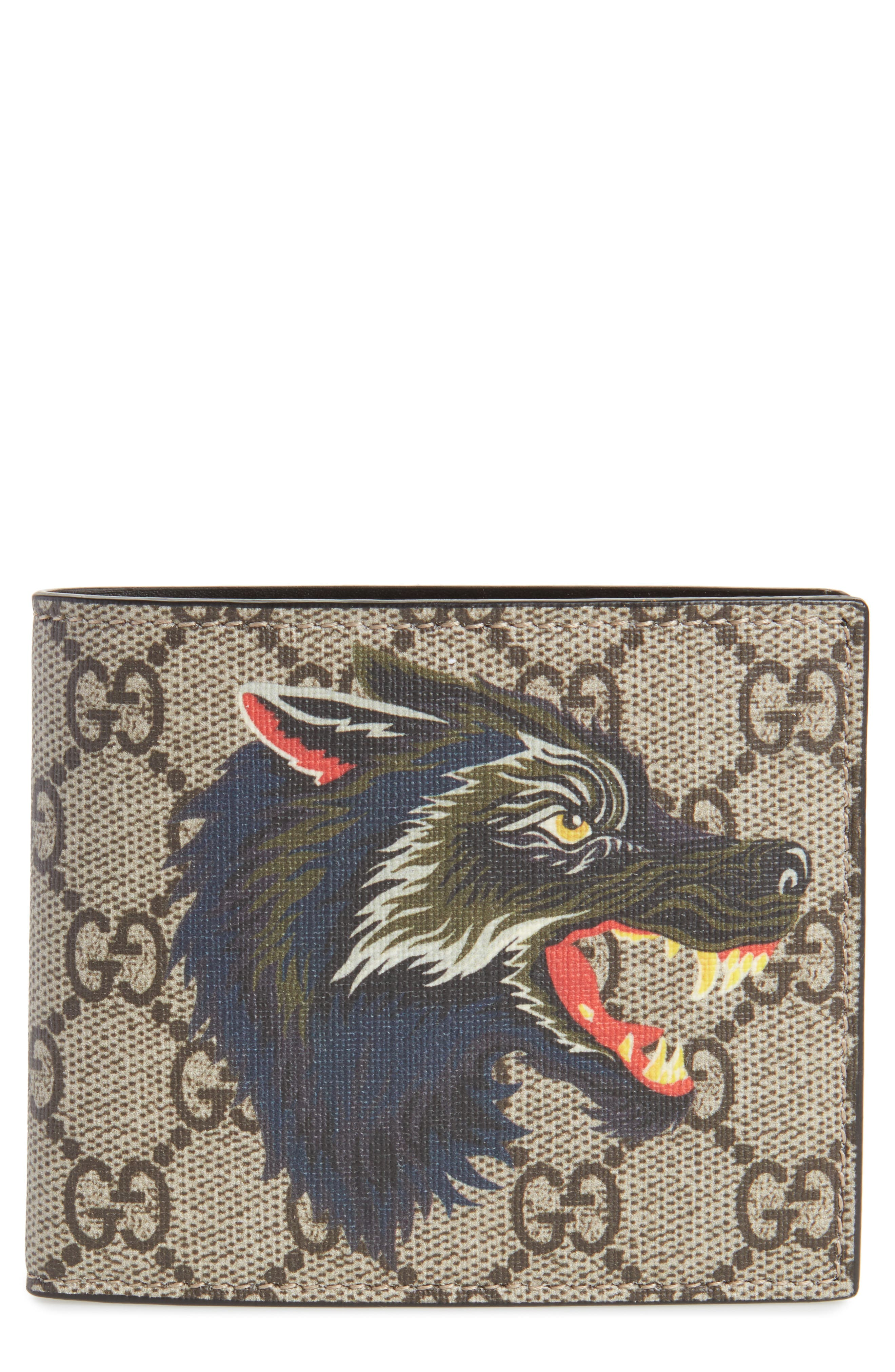 Wolf Bifold Wallet,                             Main thumbnail 1, color,                             Beige