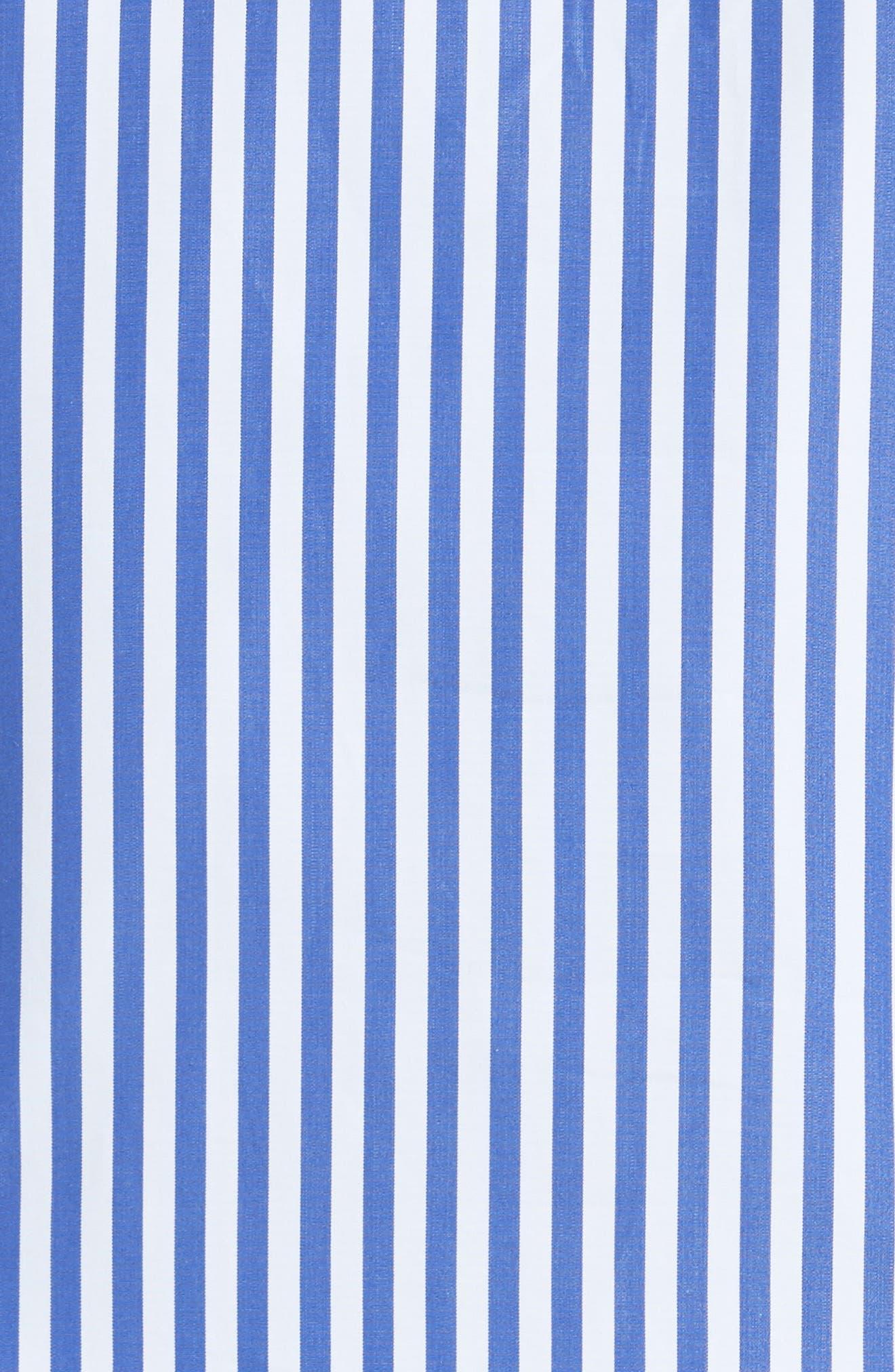 Alternate Image 5  - KHAITE Vanessa Stripe Poplin Minidress