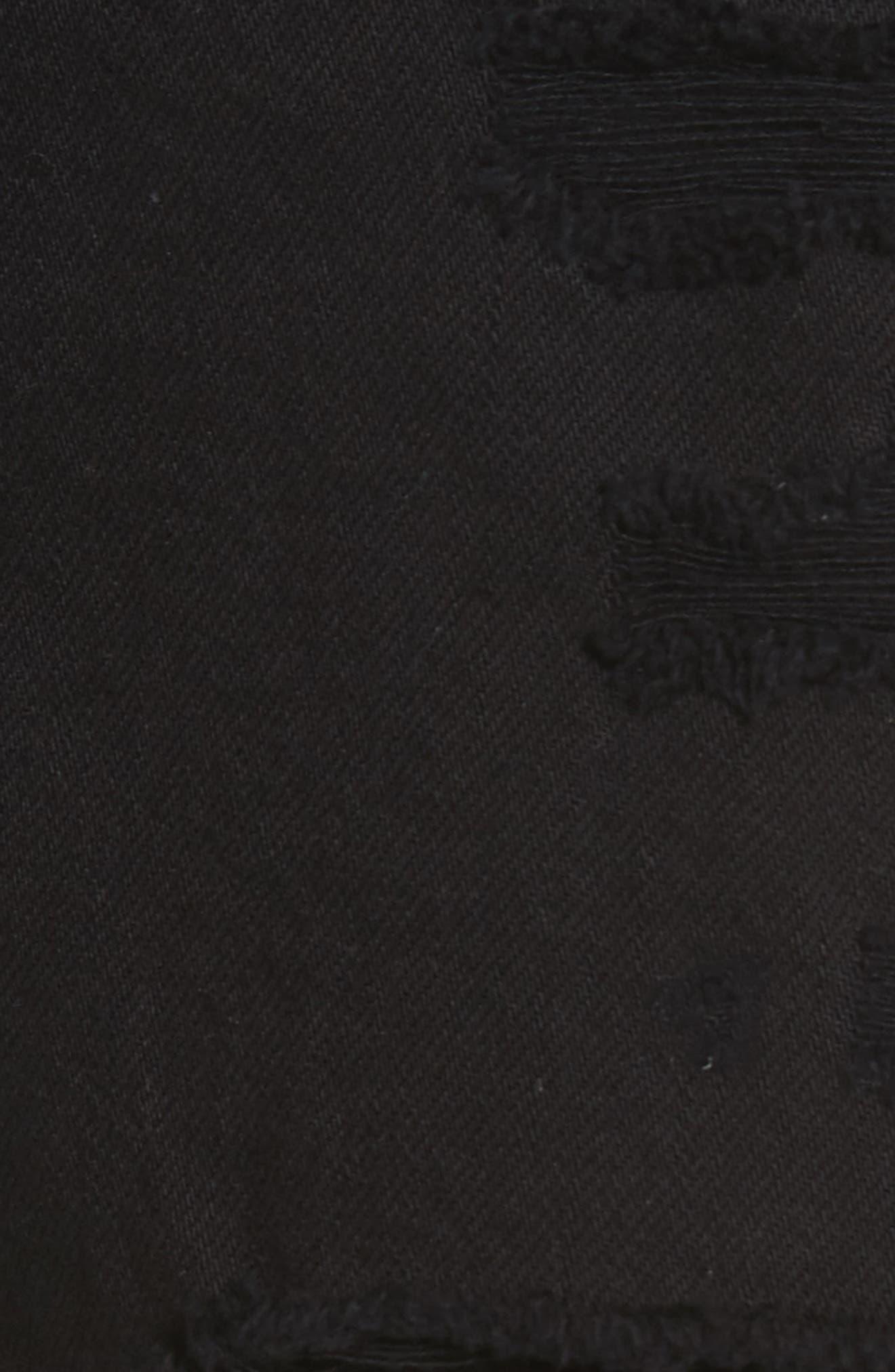W4 Carter Ripped High Waist Denim Shorts,                             Alternate thumbnail 5, color,                             Carbon