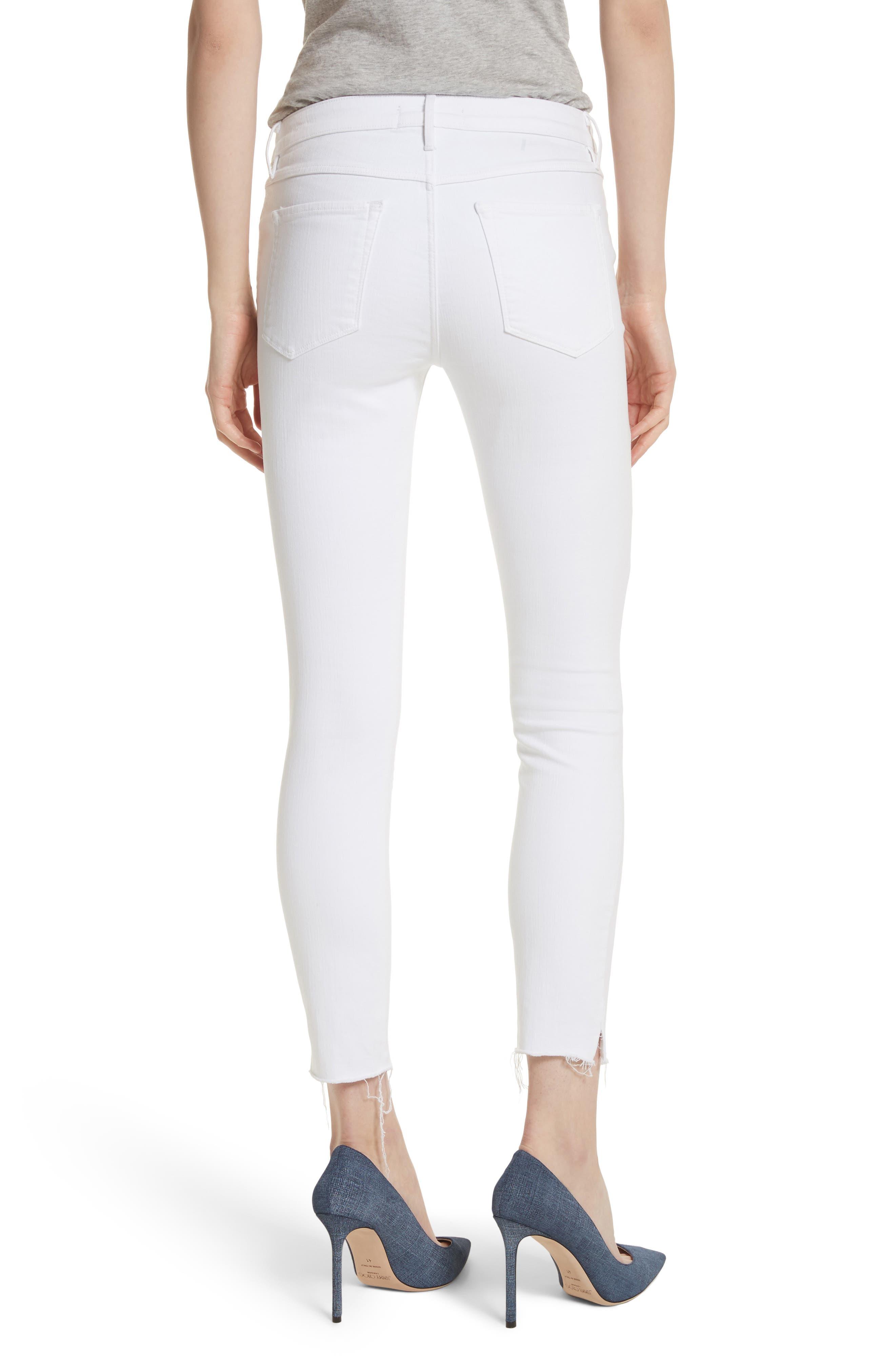 W2 Crop Skinny Jeans,                             Alternate thumbnail 2, color,                             White Tear