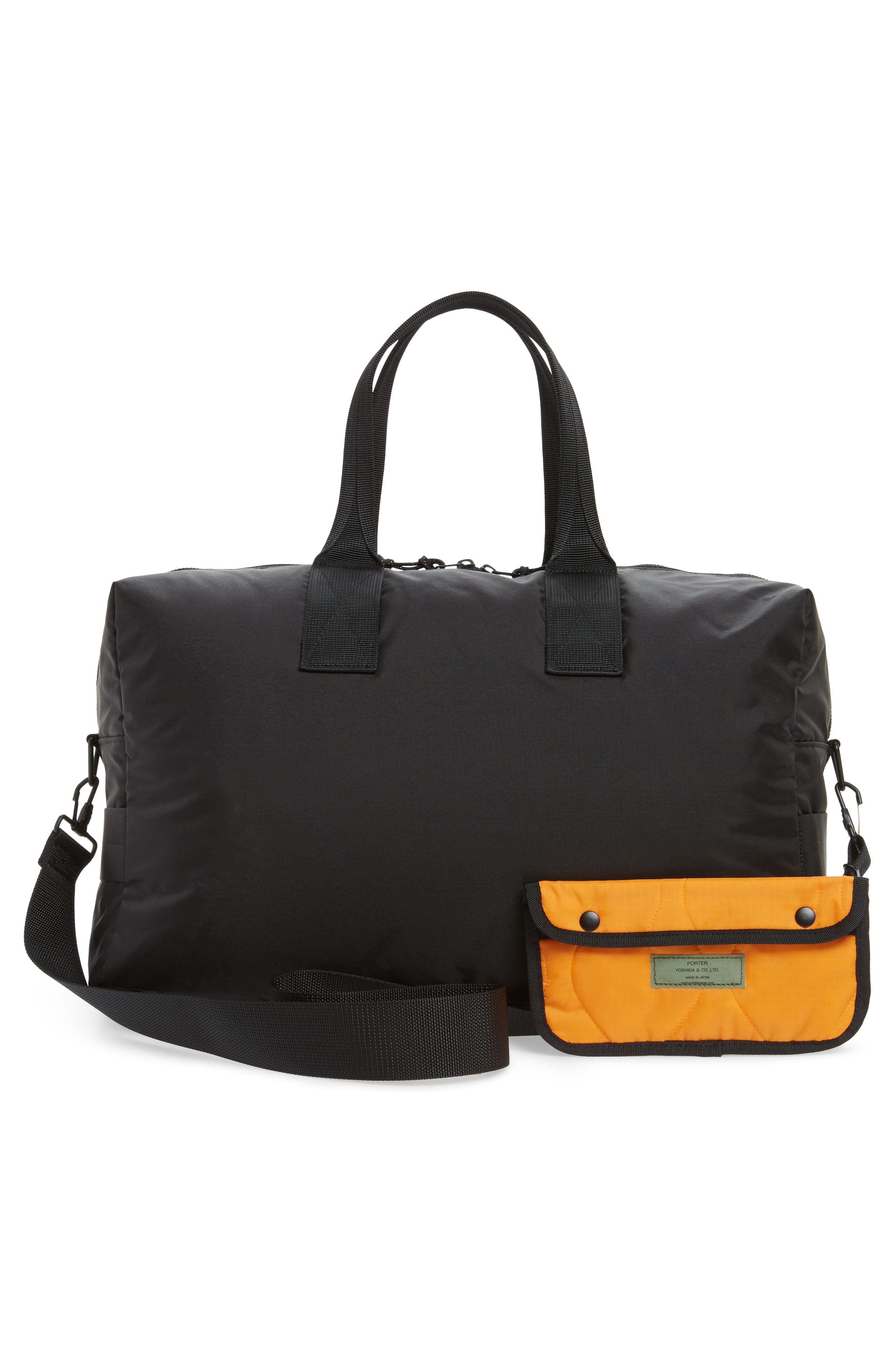 Porter-Yoshida & Co. Force Duffel Bag,                             Alternate thumbnail 3, color,                             Black