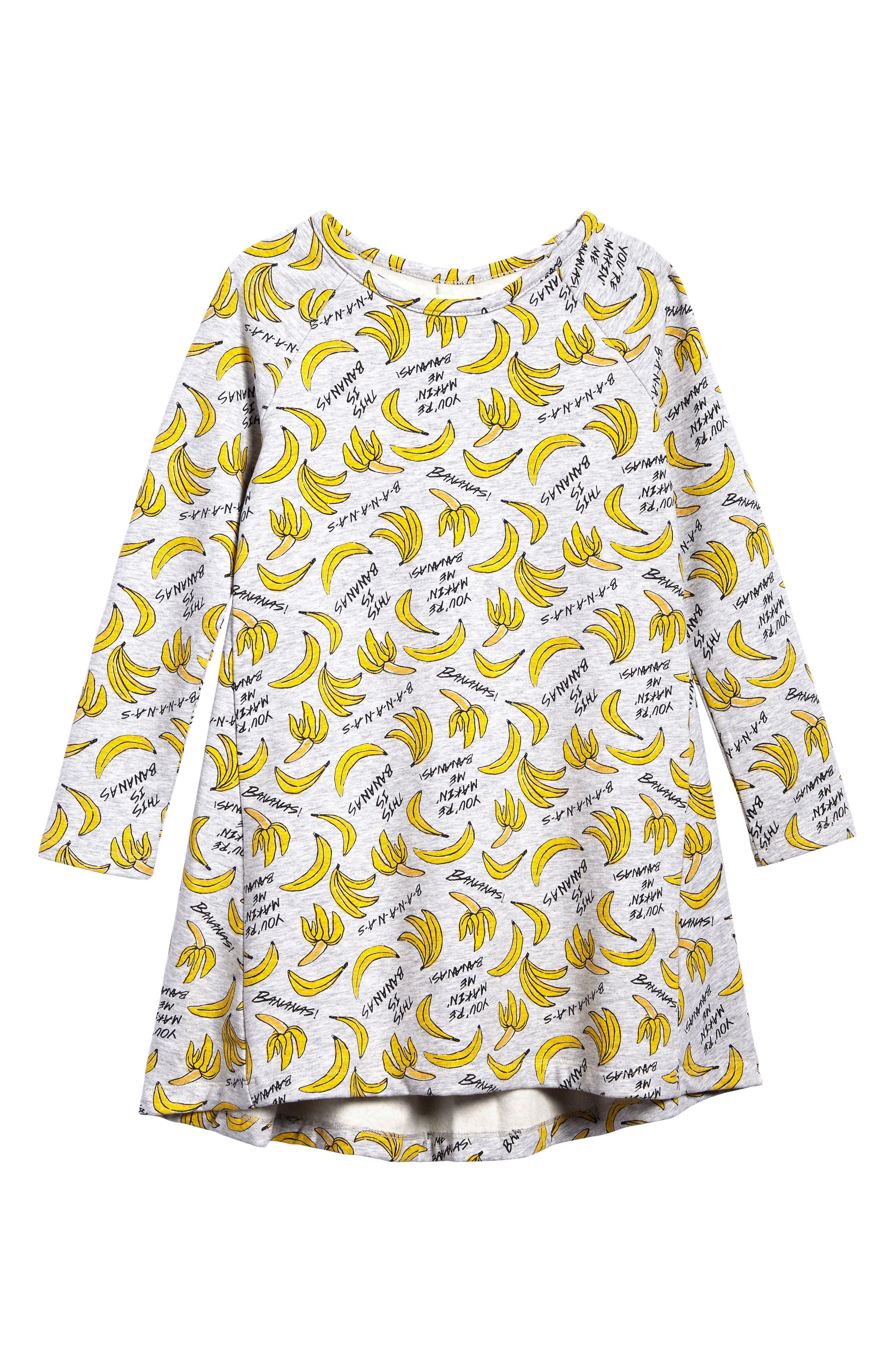 Main Image - Tucker + Tate  Print Fleece Dress (Toddler Girls, Little Girls & Big Girls)