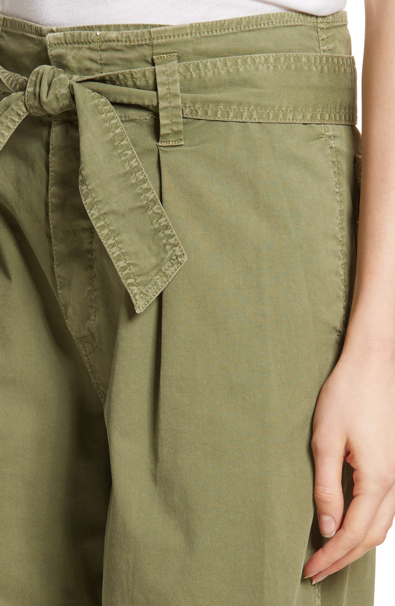Ellie Drop Rise Culottes,                             Alternate thumbnail 4, color,                             Army Green