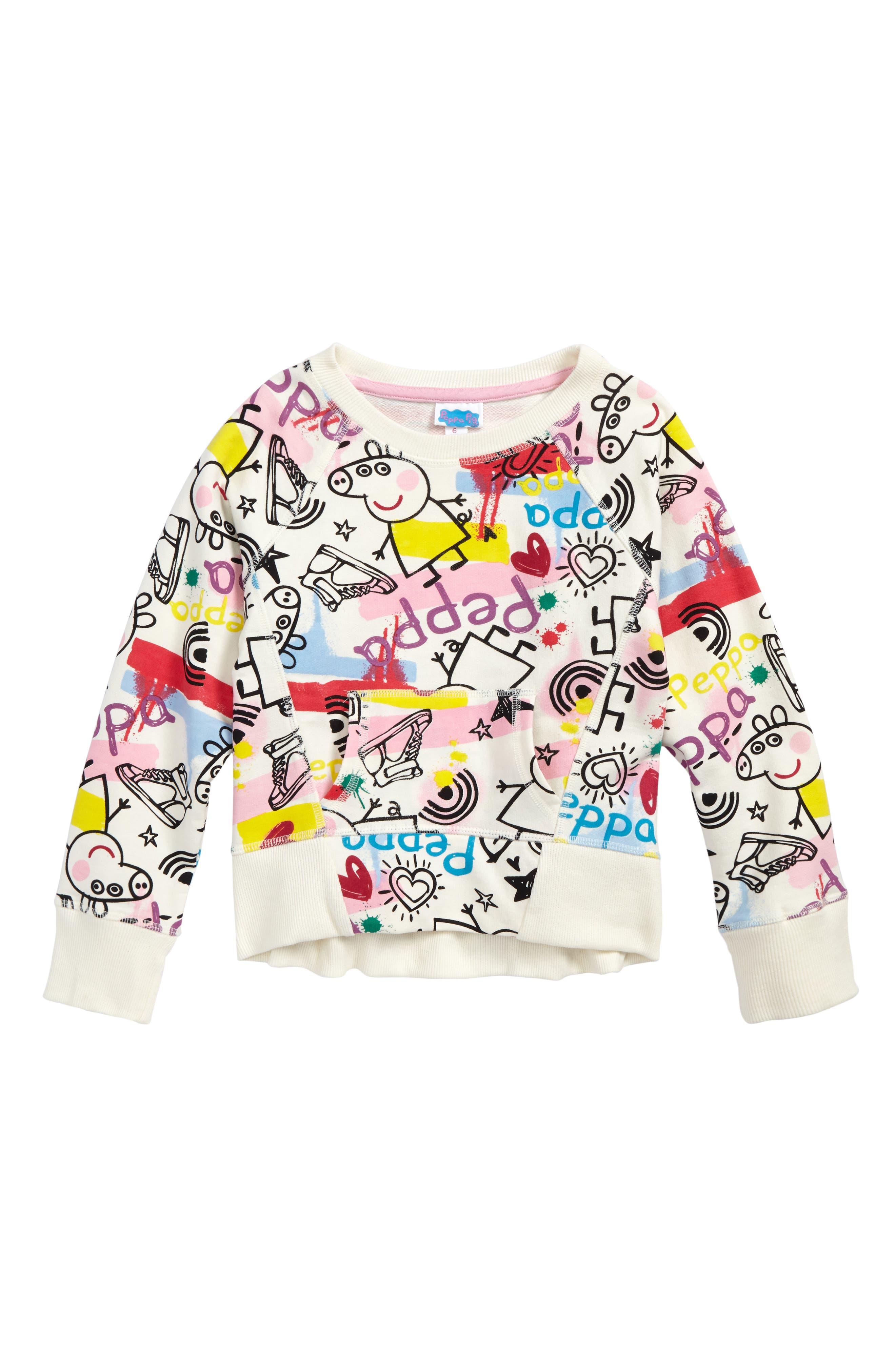 Main Image - Happy Threads Peppa Pig Graphic Sweatshirt (Toddler Girls & Little Girls)