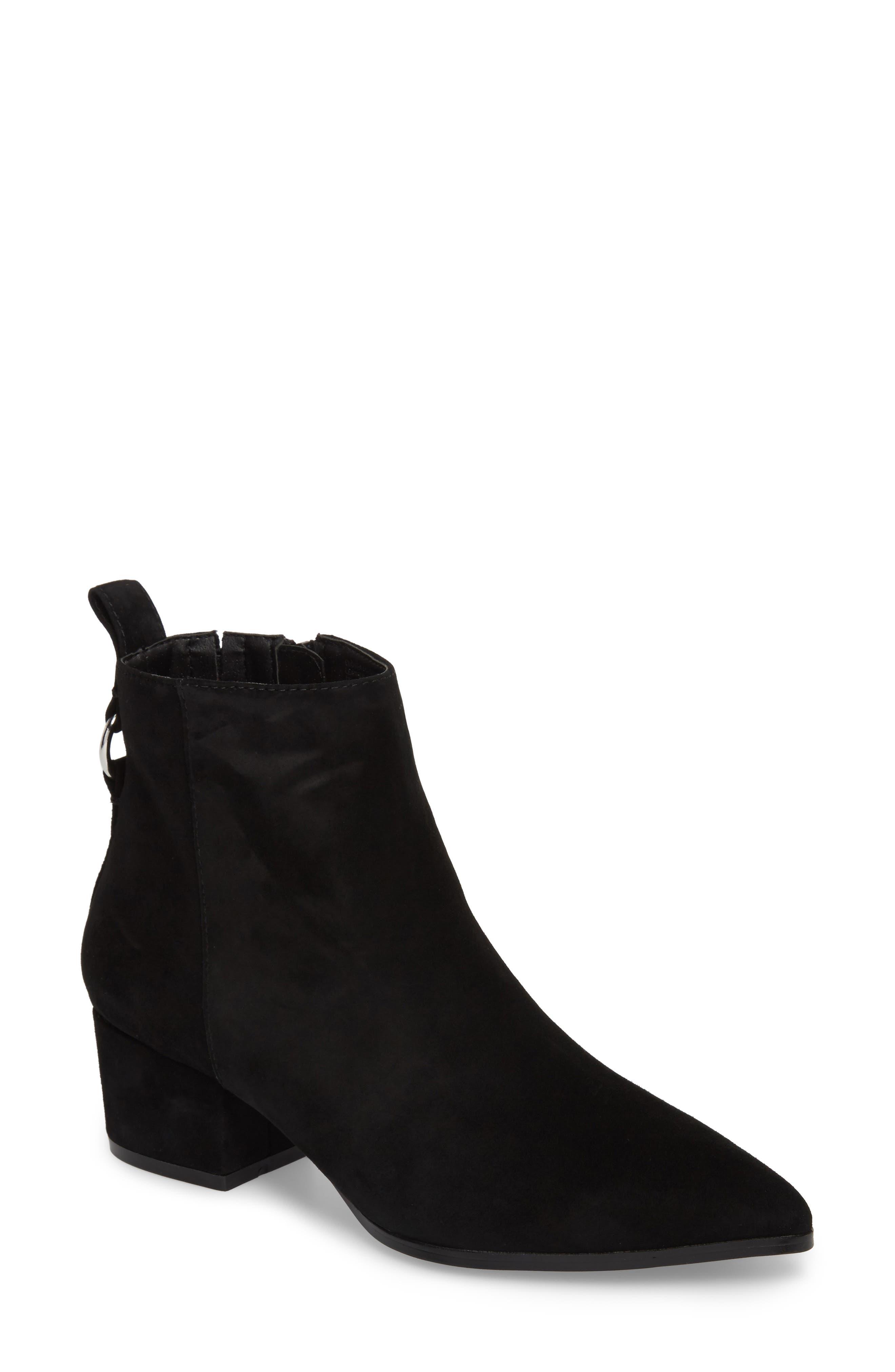 Clover Bootie,                         Main,                         color, Black Suede