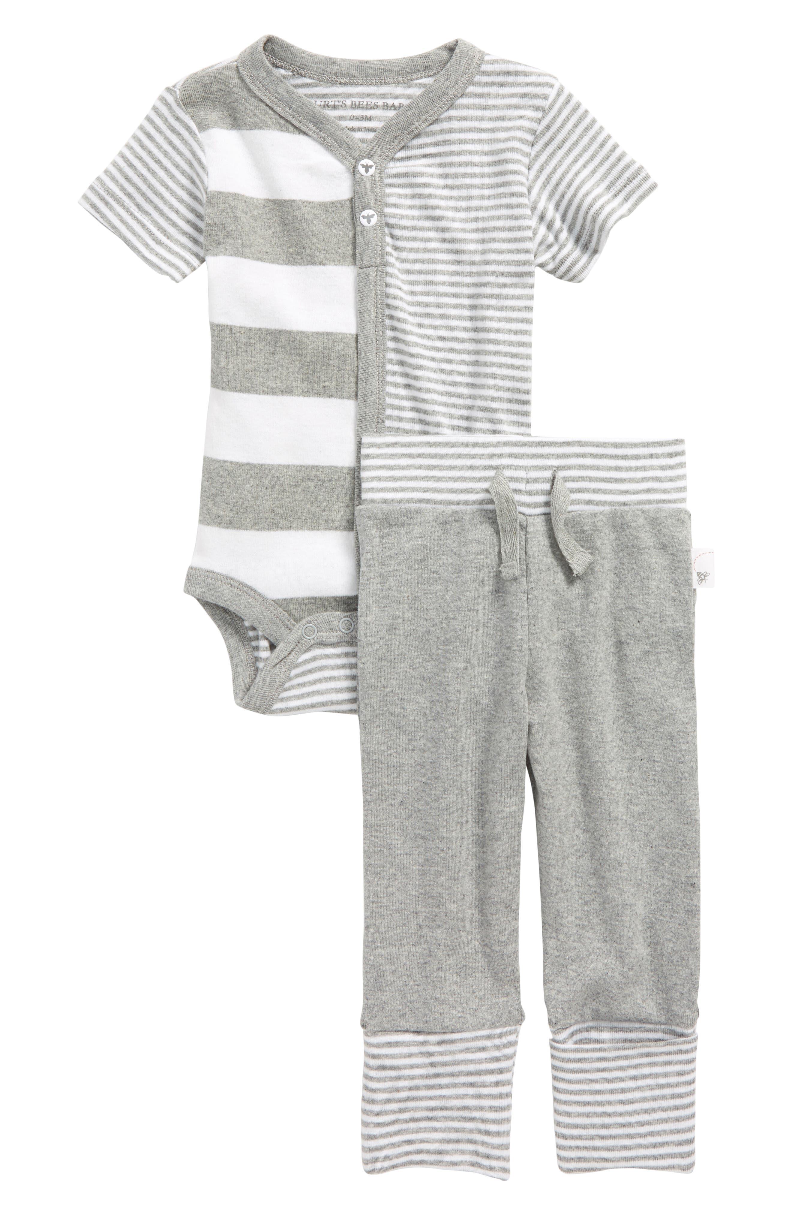 Burt's Bees Baby Organic Cotton Bodysuit & Pants Set (Baby Boys)