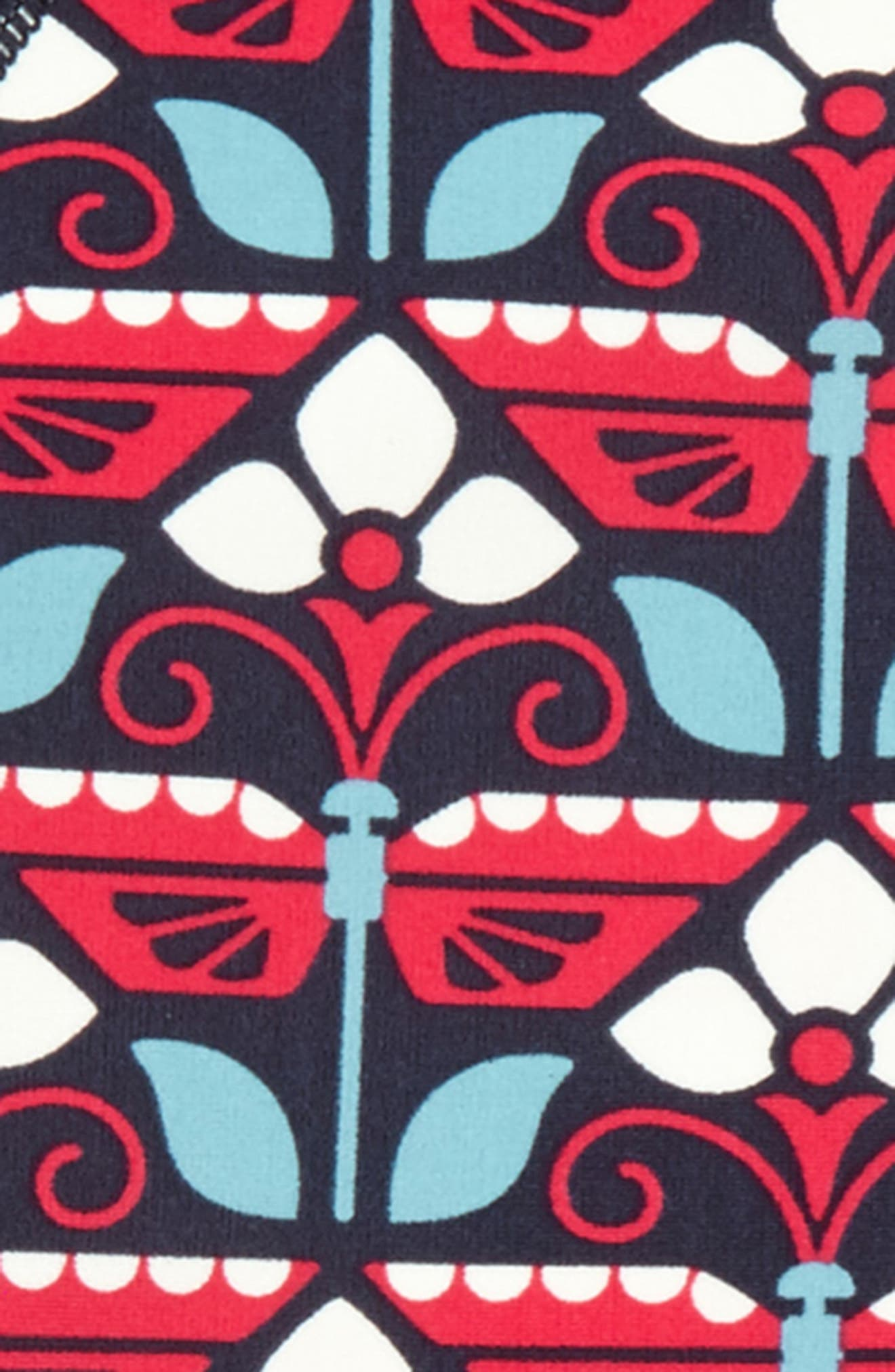 Kaleidoscope Two-Piece Rashguard Swimsuit,                             Alternate thumbnail 2, color,                             Indigo